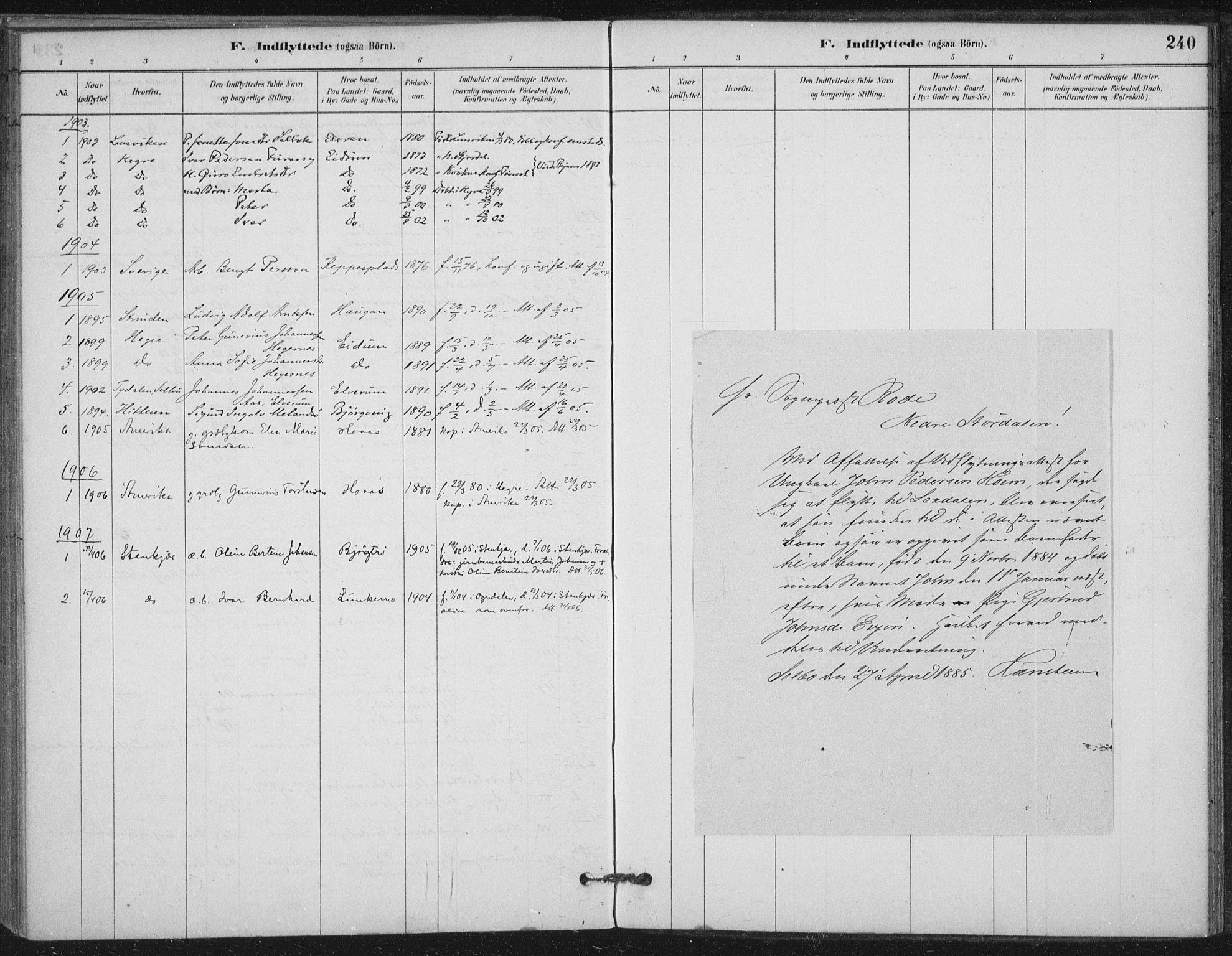 SAT, Ministerialprotokoller, klokkerbøker og fødselsregistre - Nord-Trøndelag, 710/L0095: Ministerialbok nr. 710A01, 1880-1914, s. 240