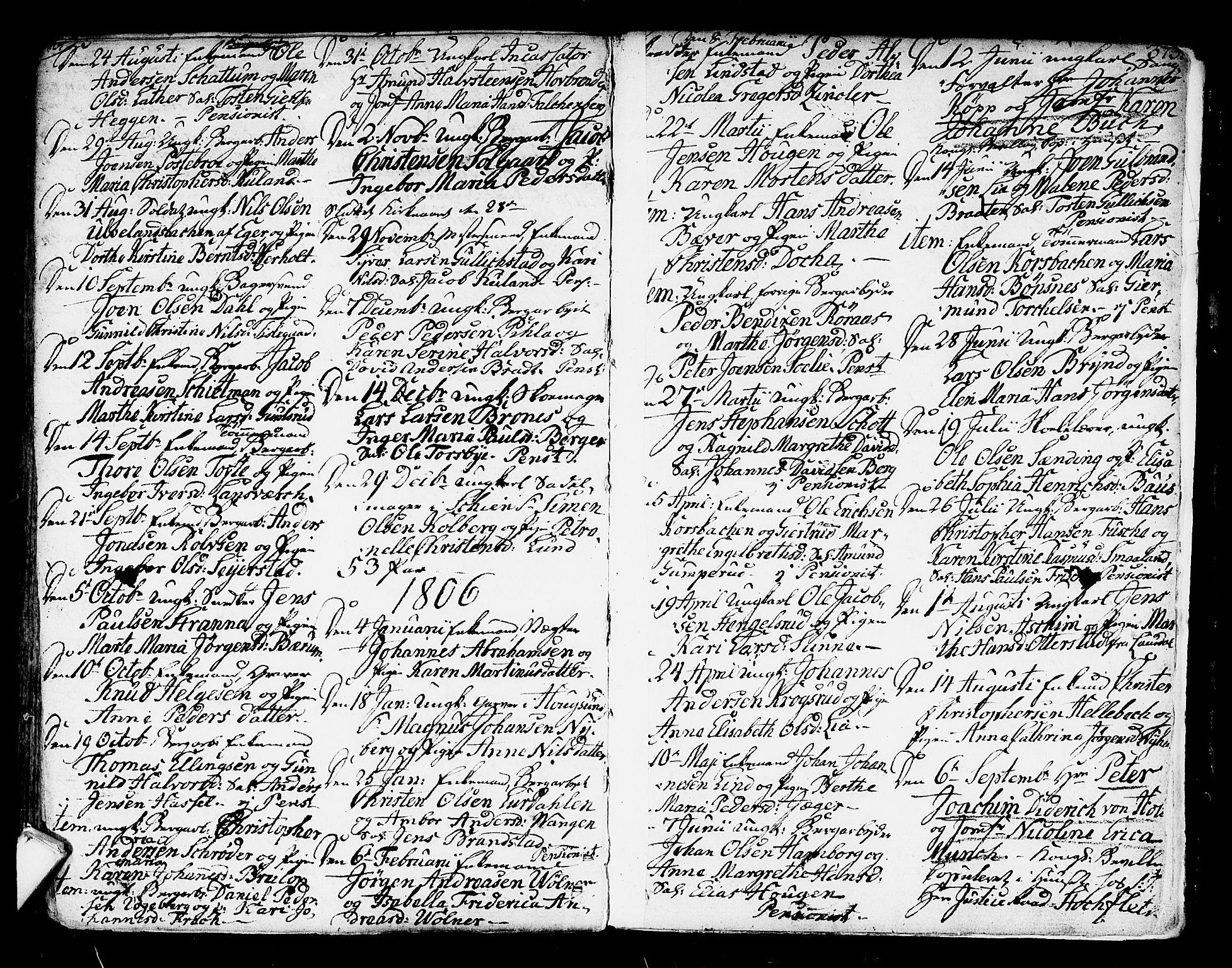 SAKO, Kongsberg kirkebøker, F/Fa/L0007: Ministerialbok nr. I 7, 1795-1816, s. 373
