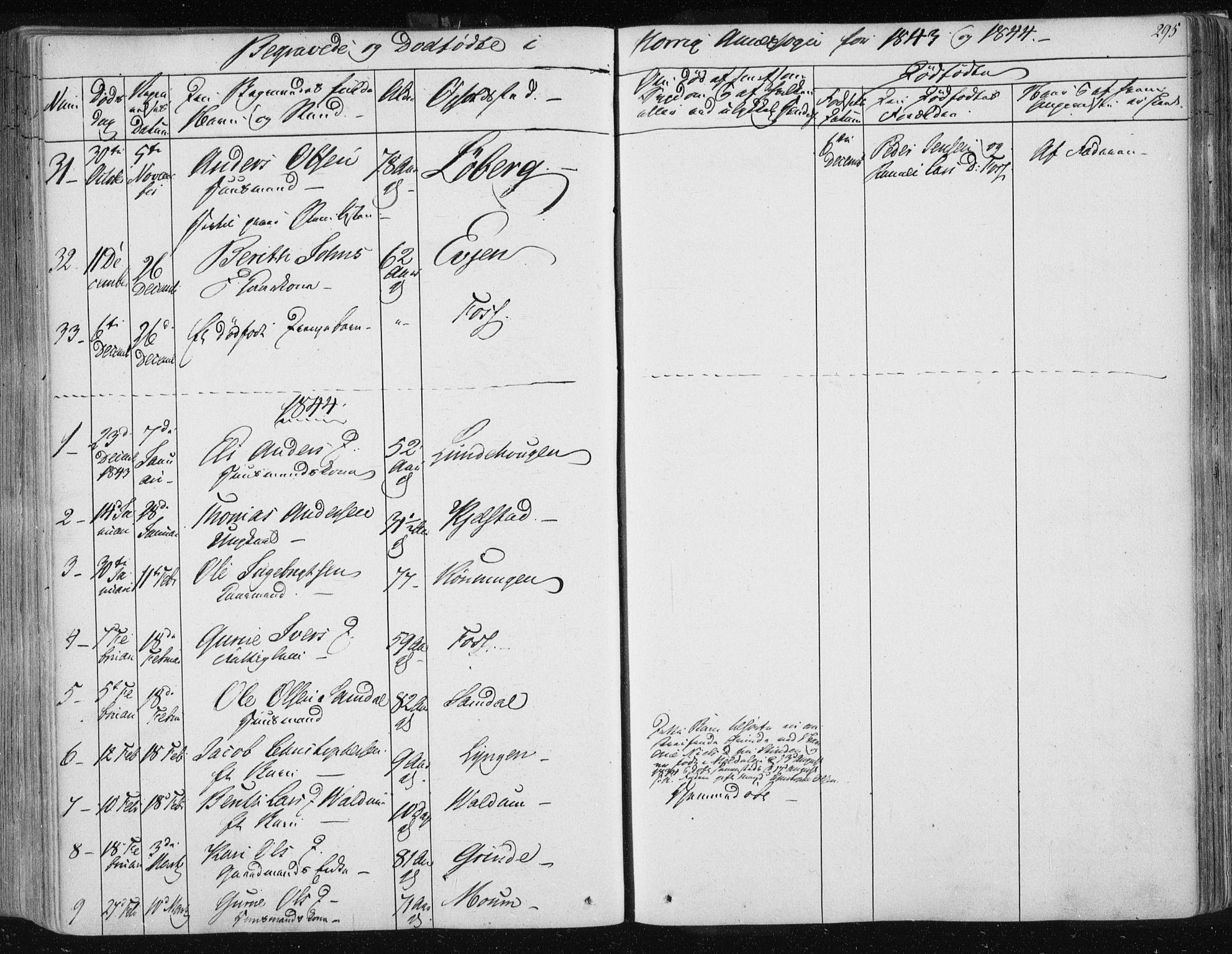 SAT, Ministerialprotokoller, klokkerbøker og fødselsregistre - Sør-Trøndelag, 687/L0998: Ministerialbok nr. 687A05 /2, 1843-1849, s. 295