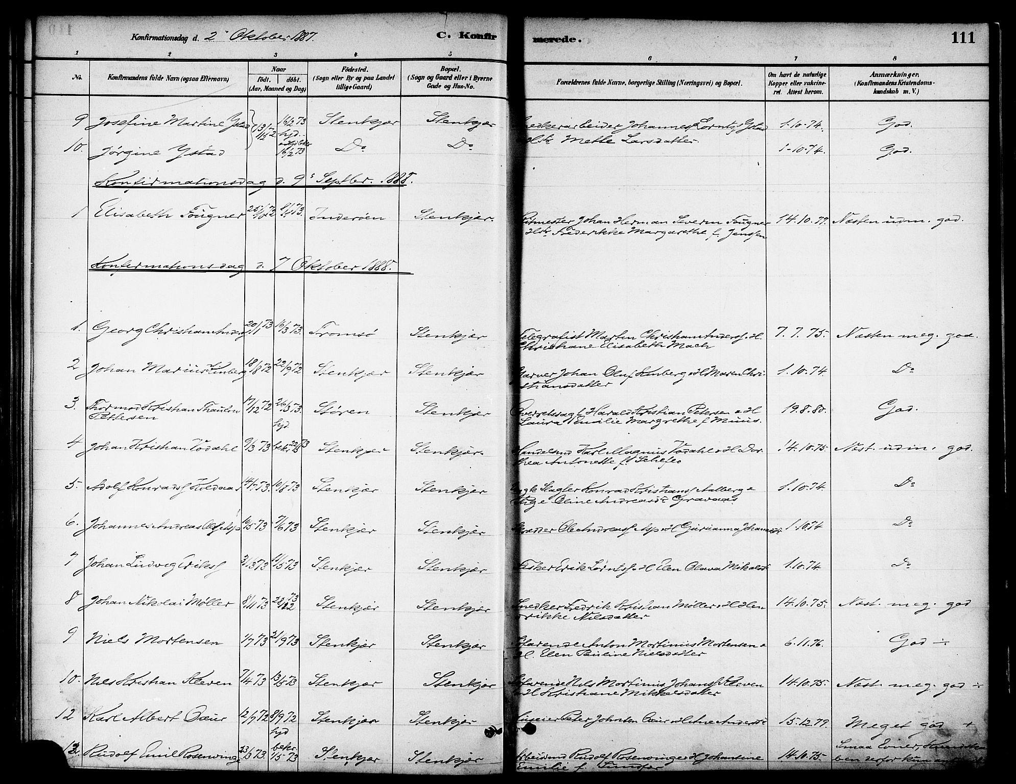 SAT, Ministerialprotokoller, klokkerbøker og fødselsregistre - Nord-Trøndelag, 739/L0371: Ministerialbok nr. 739A03, 1881-1895, s. 111
