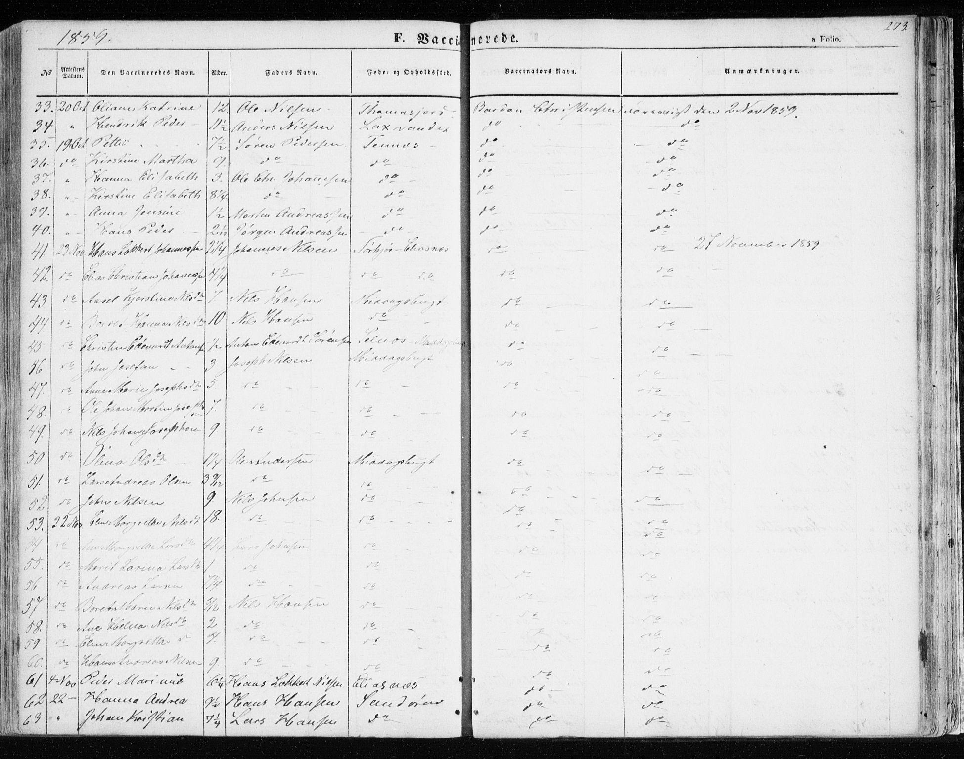 SATØ, Balsfjord sokneprestembete, Ministerialbok nr. 3, 1856-1870, s. 273