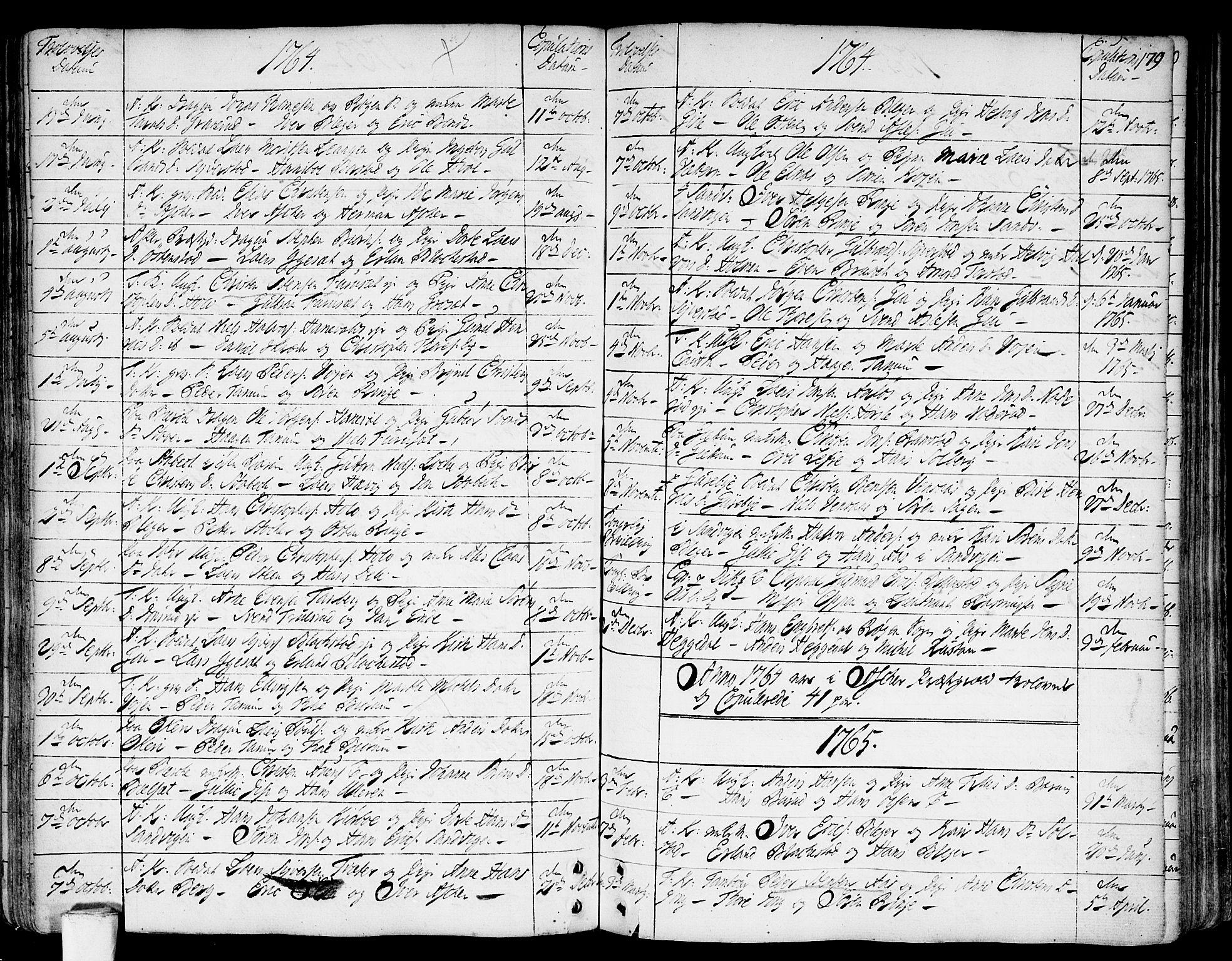 SAO, Asker prestekontor Kirkebøker, F/Fa/L0002: Ministerialbok nr. I 2, 1733-1766, s. 179