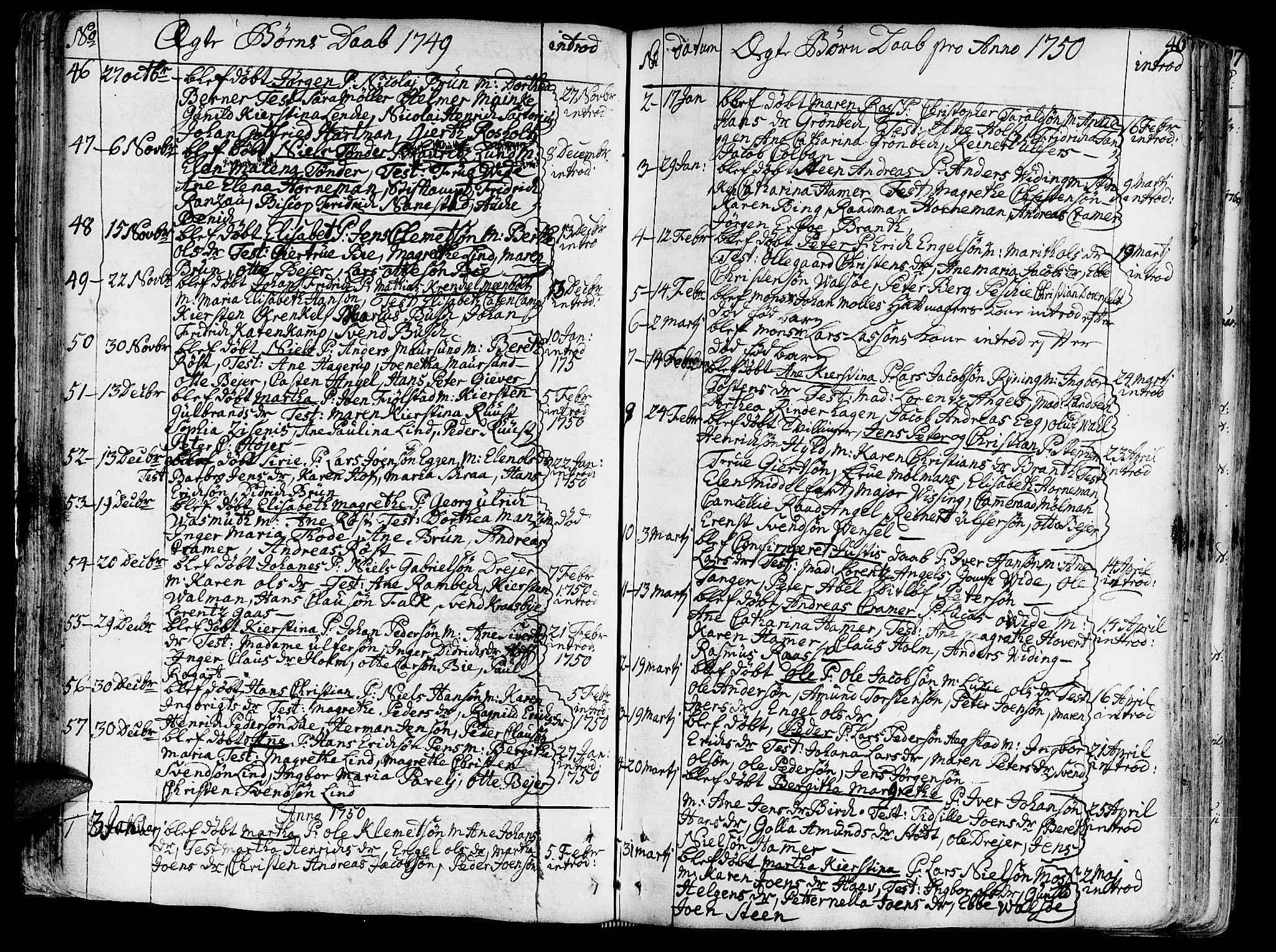 SAT, Ministerialprotokoller, klokkerbøker og fødselsregistre - Sør-Trøndelag, 602/L0103: Ministerialbok nr. 602A01, 1732-1774, s. 46