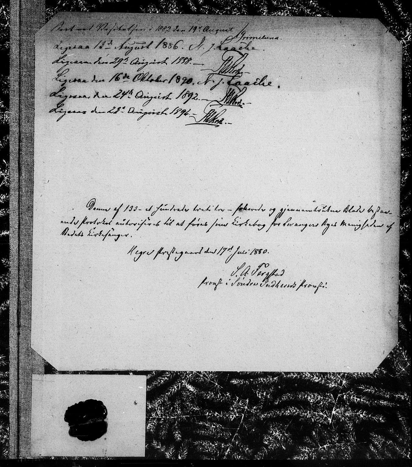 SAT, Ministerialprotokoller, klokkerbøker og fødselsregistre - Nord-Trøndelag, 720/L0192: Klokkerbok nr. 720C01, 1880-1917