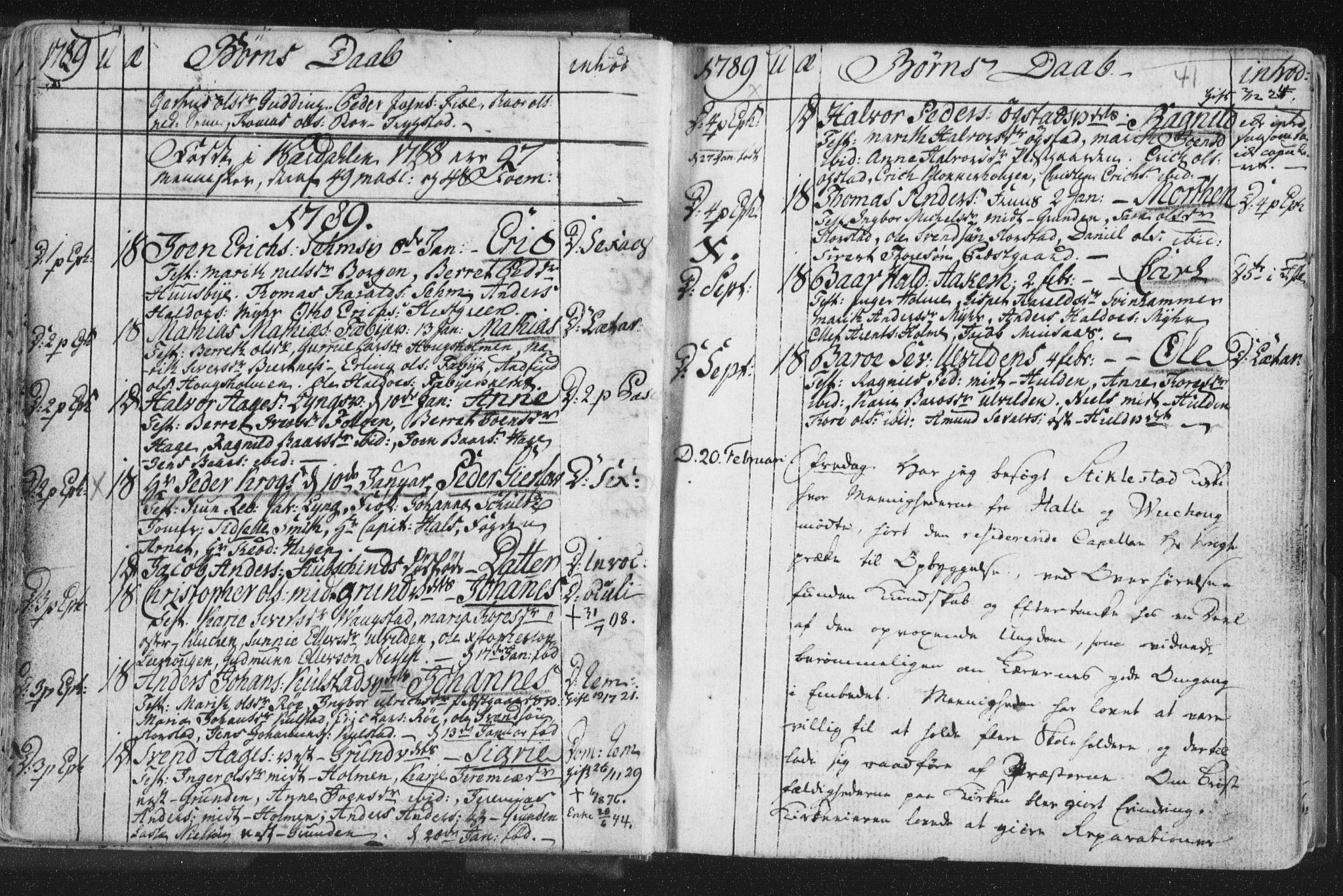 SAT, Ministerialprotokoller, klokkerbøker og fødselsregistre - Nord-Trøndelag, 723/L0232: Ministerialbok nr. 723A03, 1781-1804, s. 41