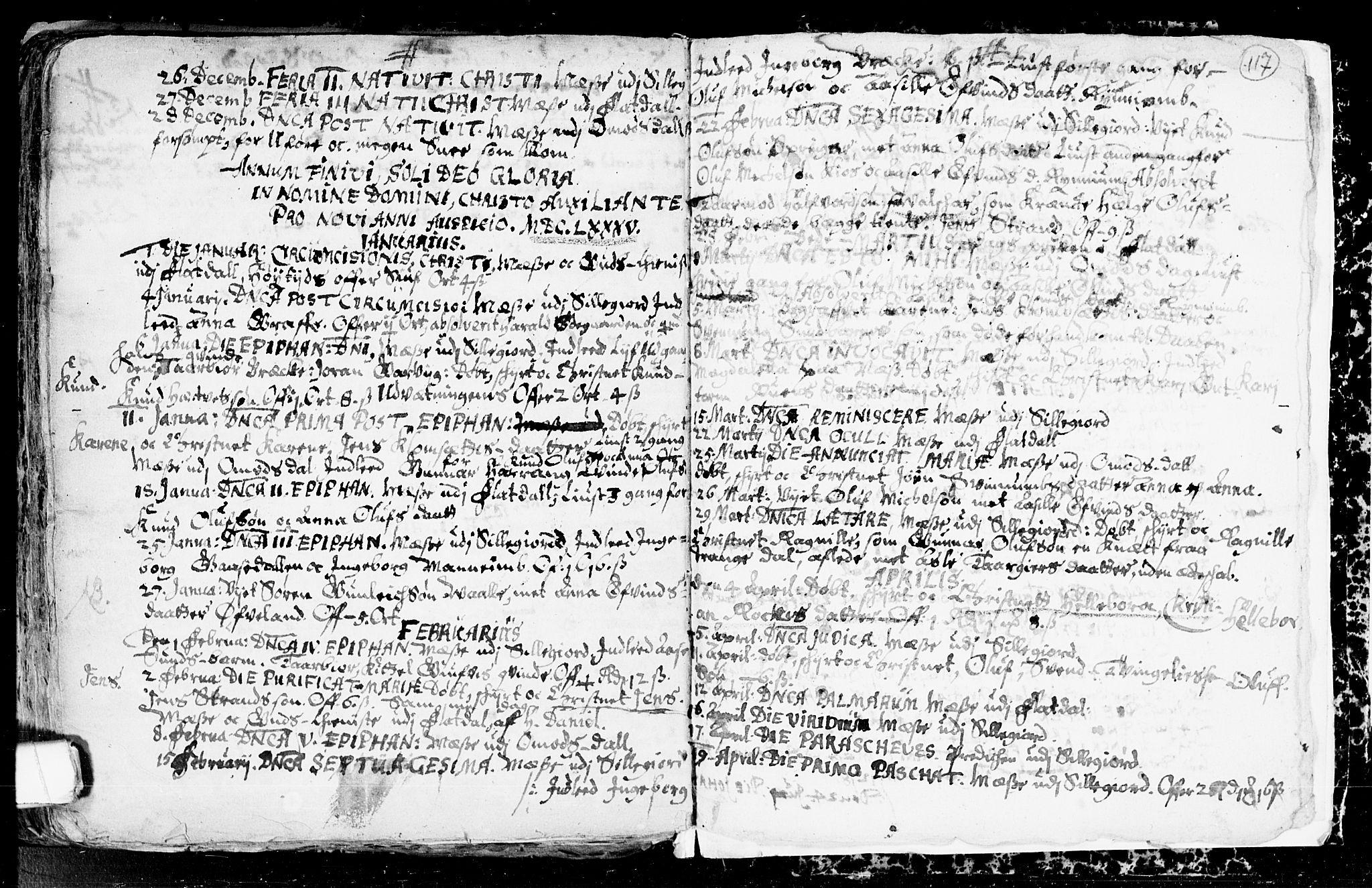 SAKO, Seljord kirkebøker, F/Fa/L0001: Ministerialbok nr. I 1, 1654-1686, s. 117