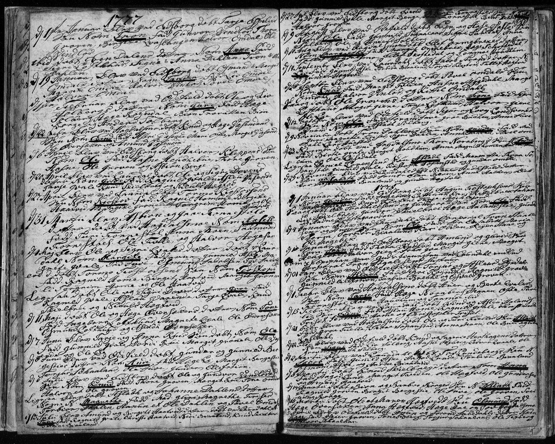 SAKO, Lårdal kirkebøker, F/Fa/L0003: Ministerialbok nr. I 3, 1754-1790, s. 24