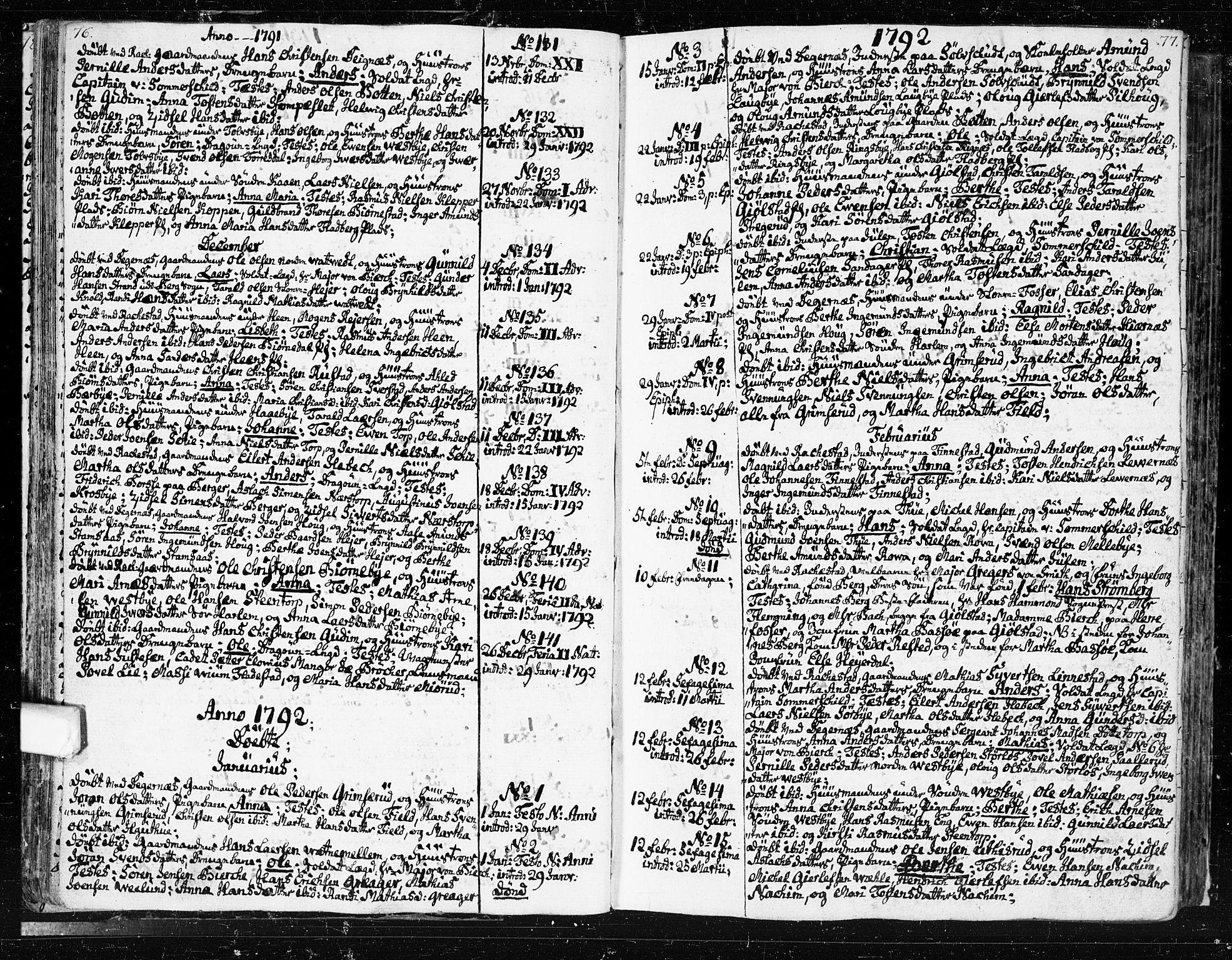 SAO, Rakkestad prestekontor Kirkebøker, F/Fa/L0005: Ministerialbok nr. I 5, 1784-1814, s. 76-77