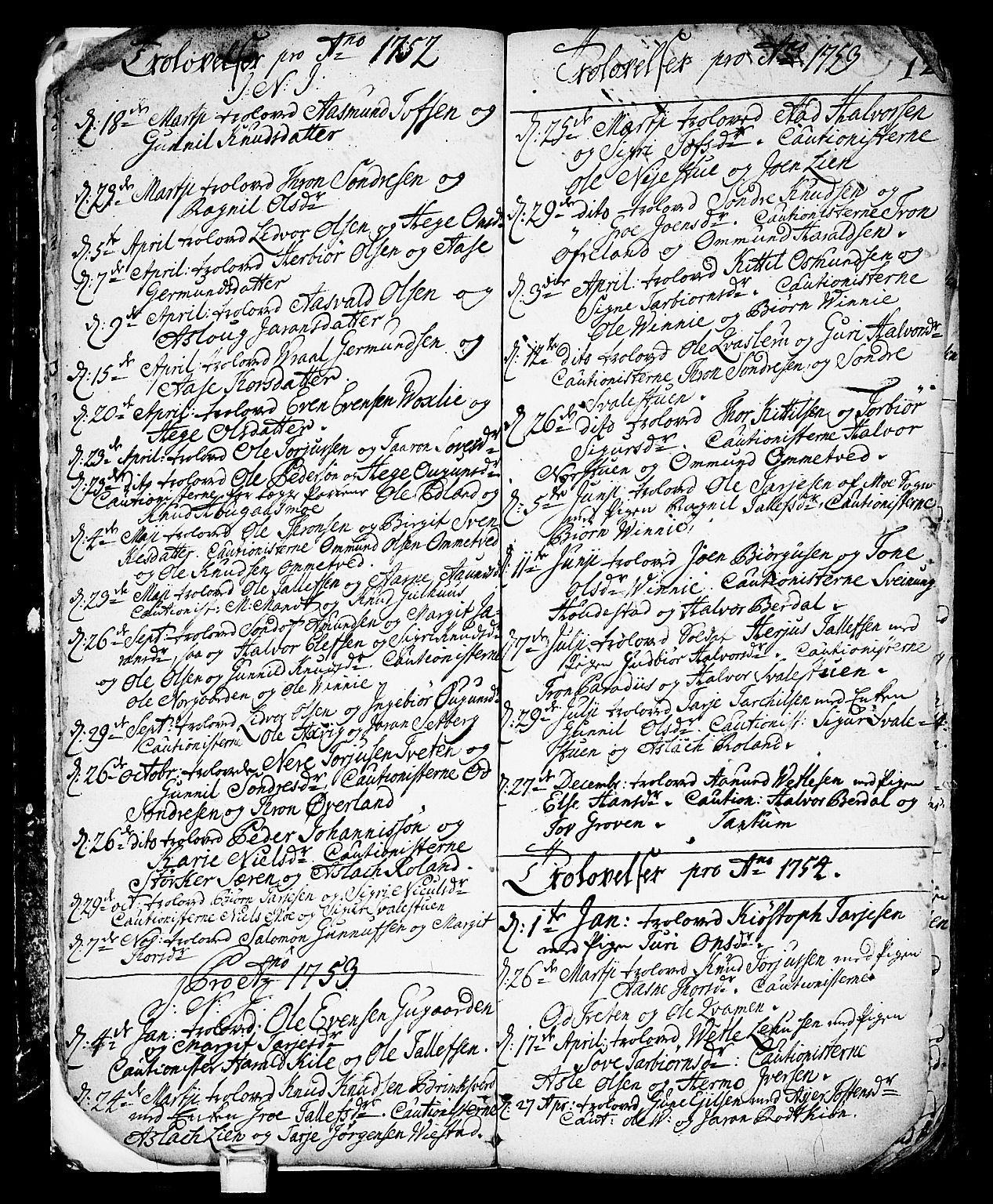 SAKO, Vinje kirkebøker, F/Fa/L0001: Ministerialbok nr. I 1, 1717-1766, s. 12