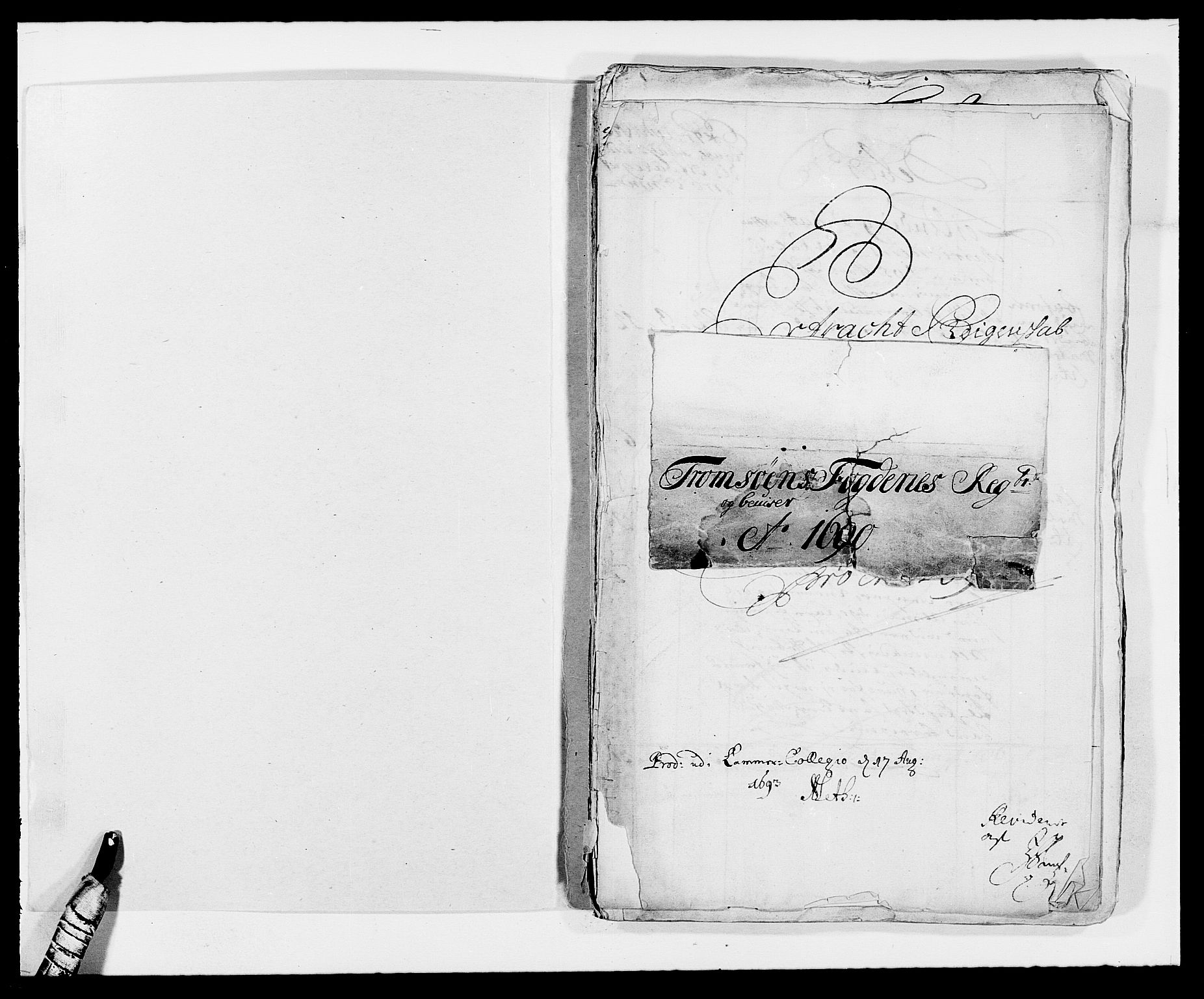 RA, Rentekammeret inntil 1814, Reviderte regnskaper, Fogderegnskap, R68/L4751: Fogderegnskap Senja og Troms, 1690-1693, s. 2
