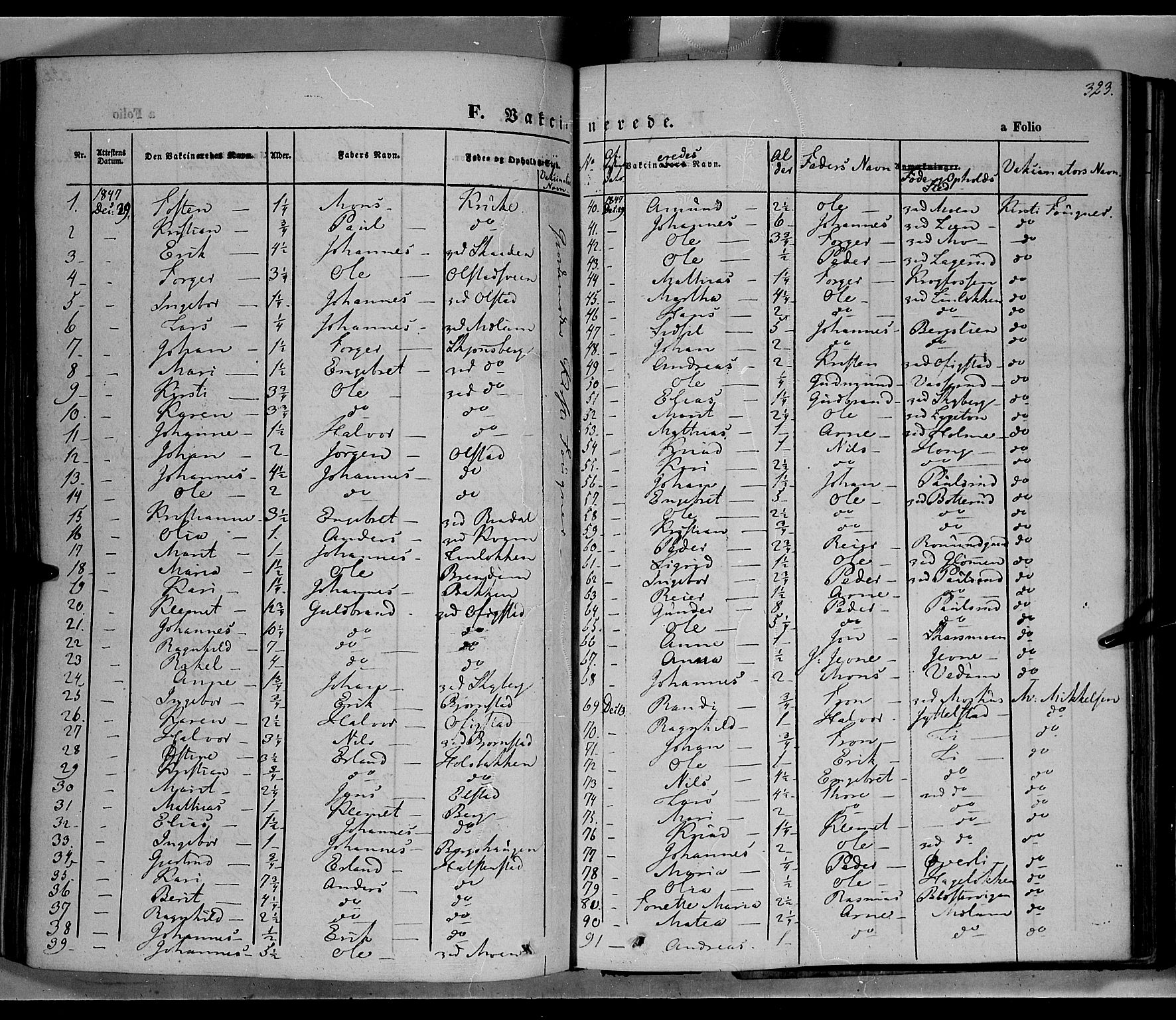 SAH, Øyer prestekontor, Ministerialbok nr. 5, 1842-1857, s. 323