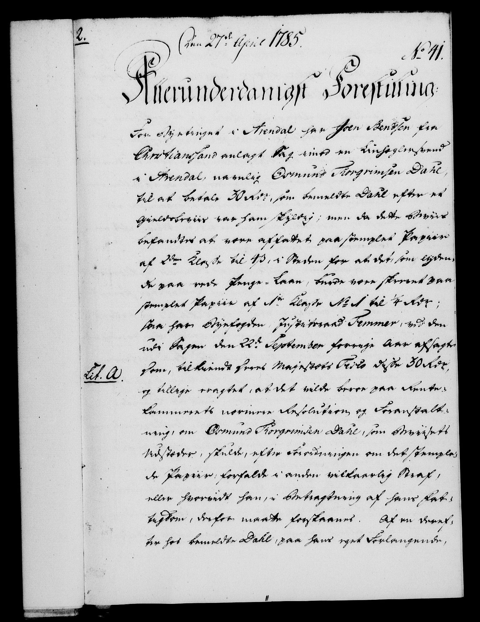 RA, Rentekammeret, Kammerkanselliet, G/Gf/Gfa/L0067: Norsk relasjons- og resolusjonsprotokoll (merket RK 52.67), 1785, s. 338