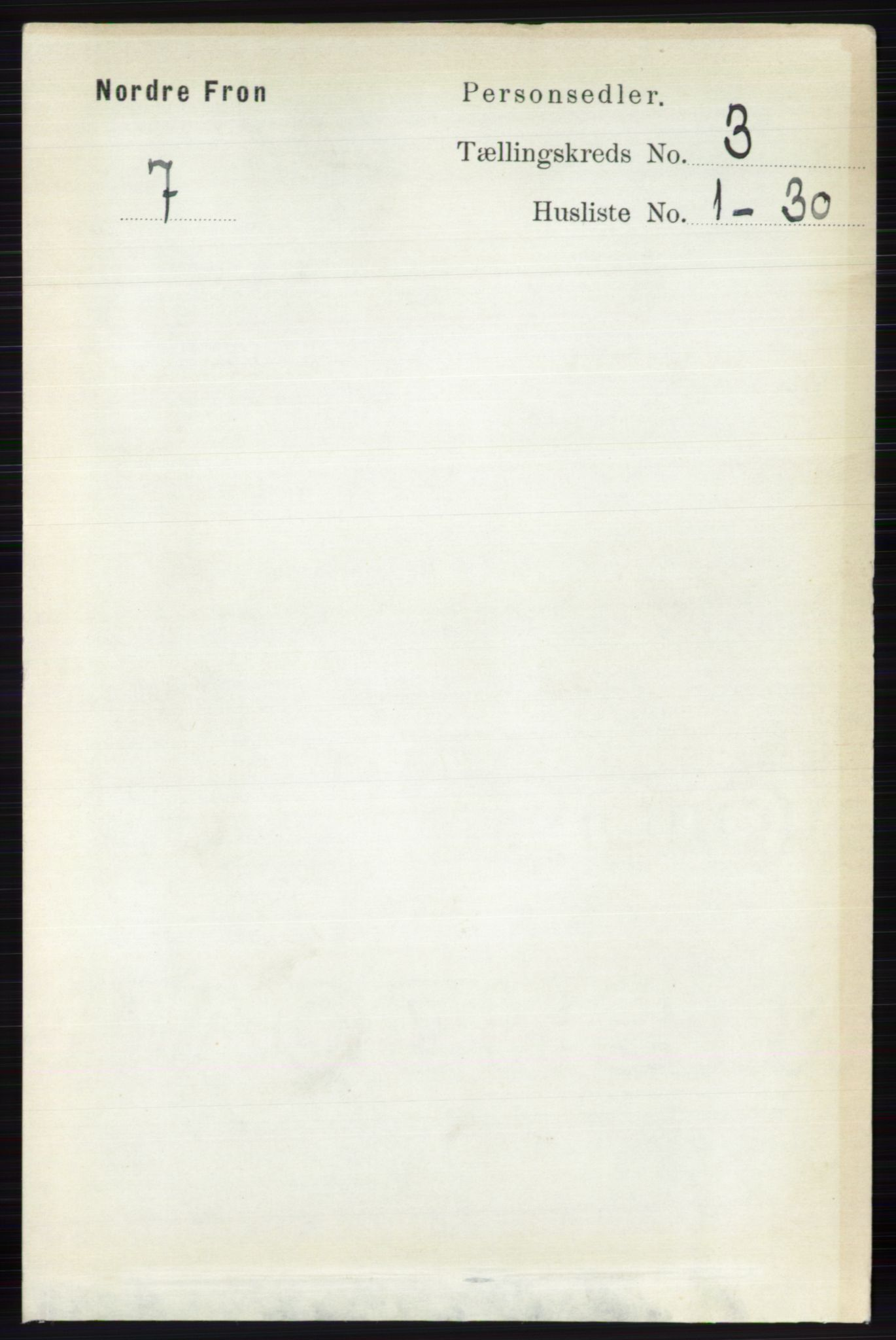 RA, Folketelling 1891 for 0518 Nord-Fron herred, 1891, s. 842