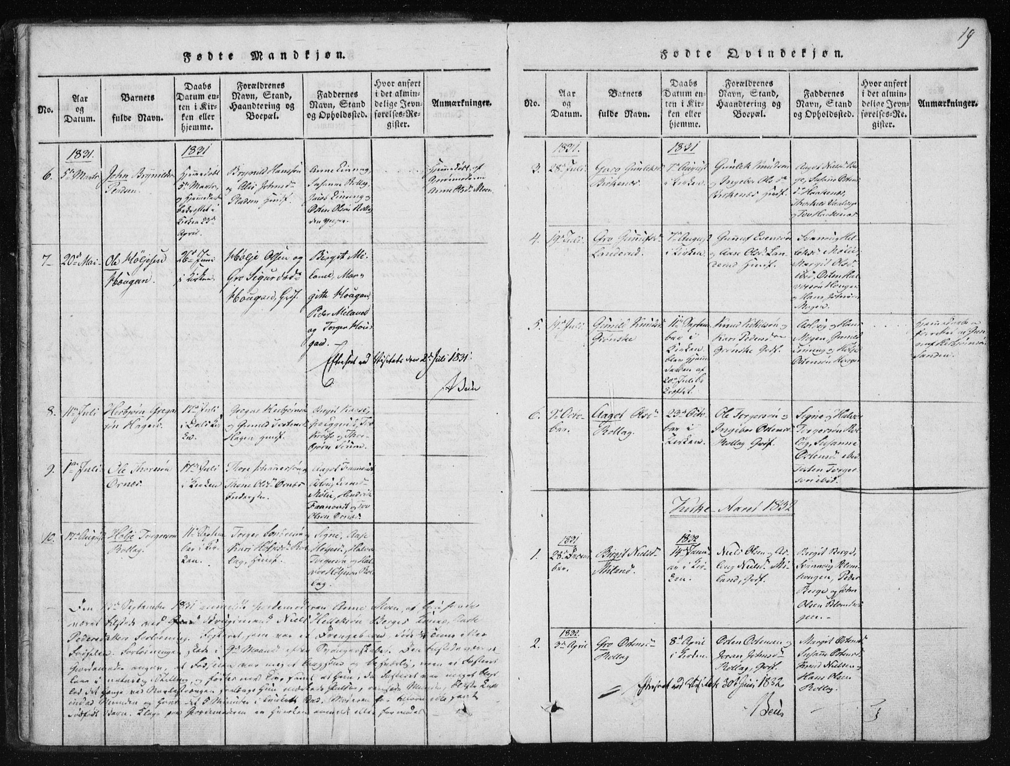 SAKO, Tinn kirkebøker, F/Fb/L0001: Ministerialbok nr. II 1, 1815-1843, s. 19