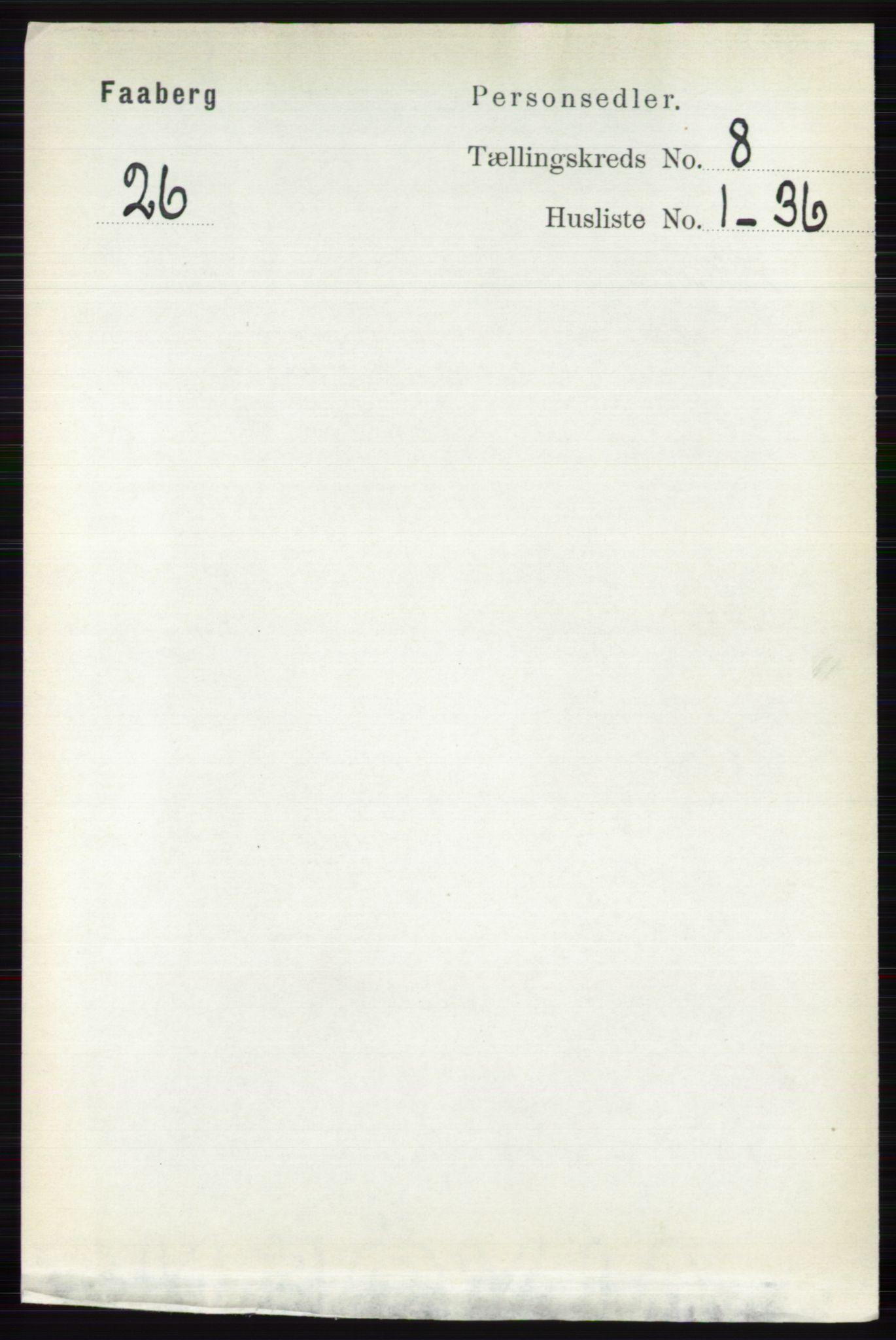 RA, Folketelling 1891 for 0524 Fåberg herred, 1891, s. 3417