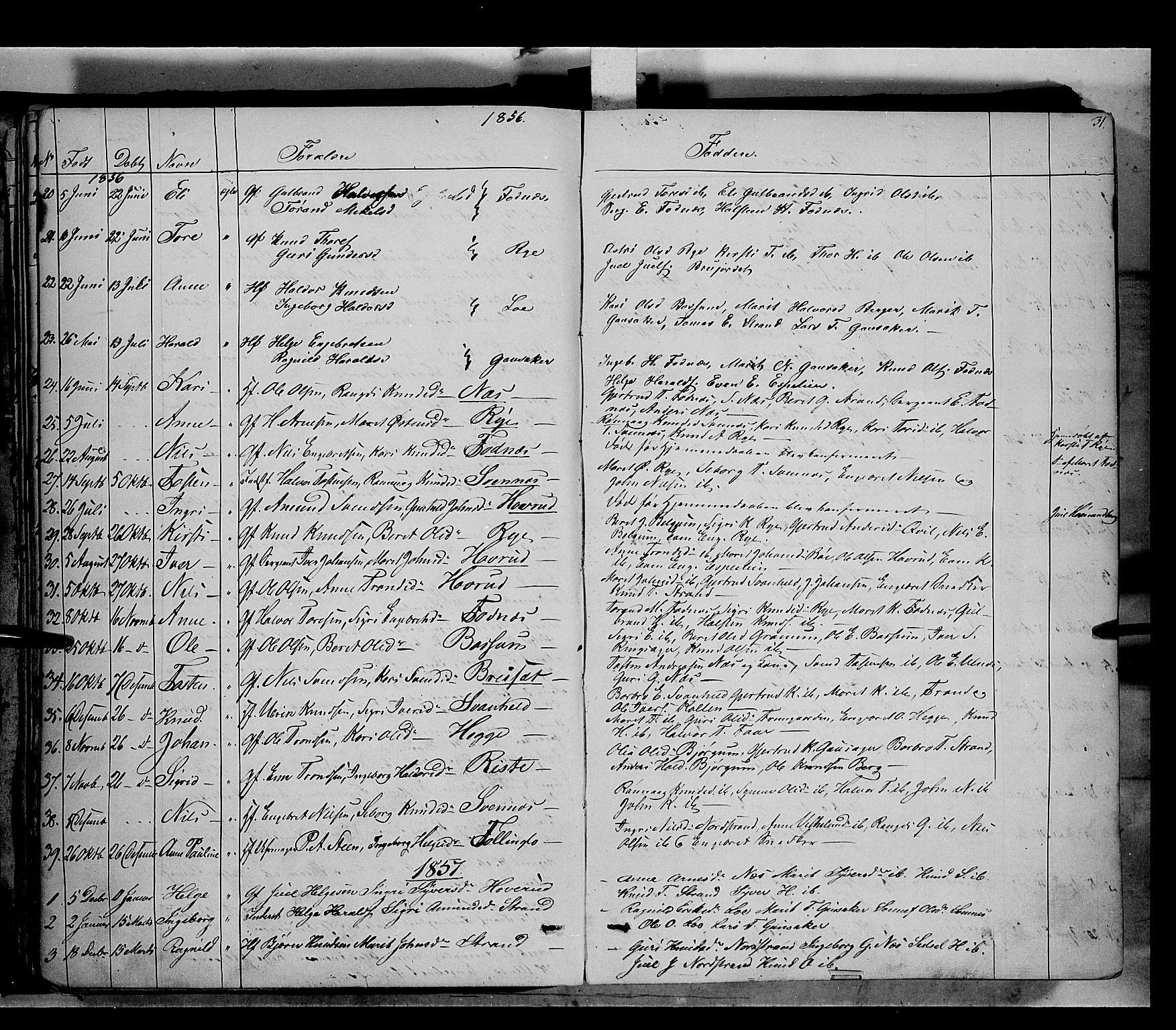 SAH, Nord-Aurdal prestekontor, Ministerialbok nr. 5, 1842-1863, s. 31