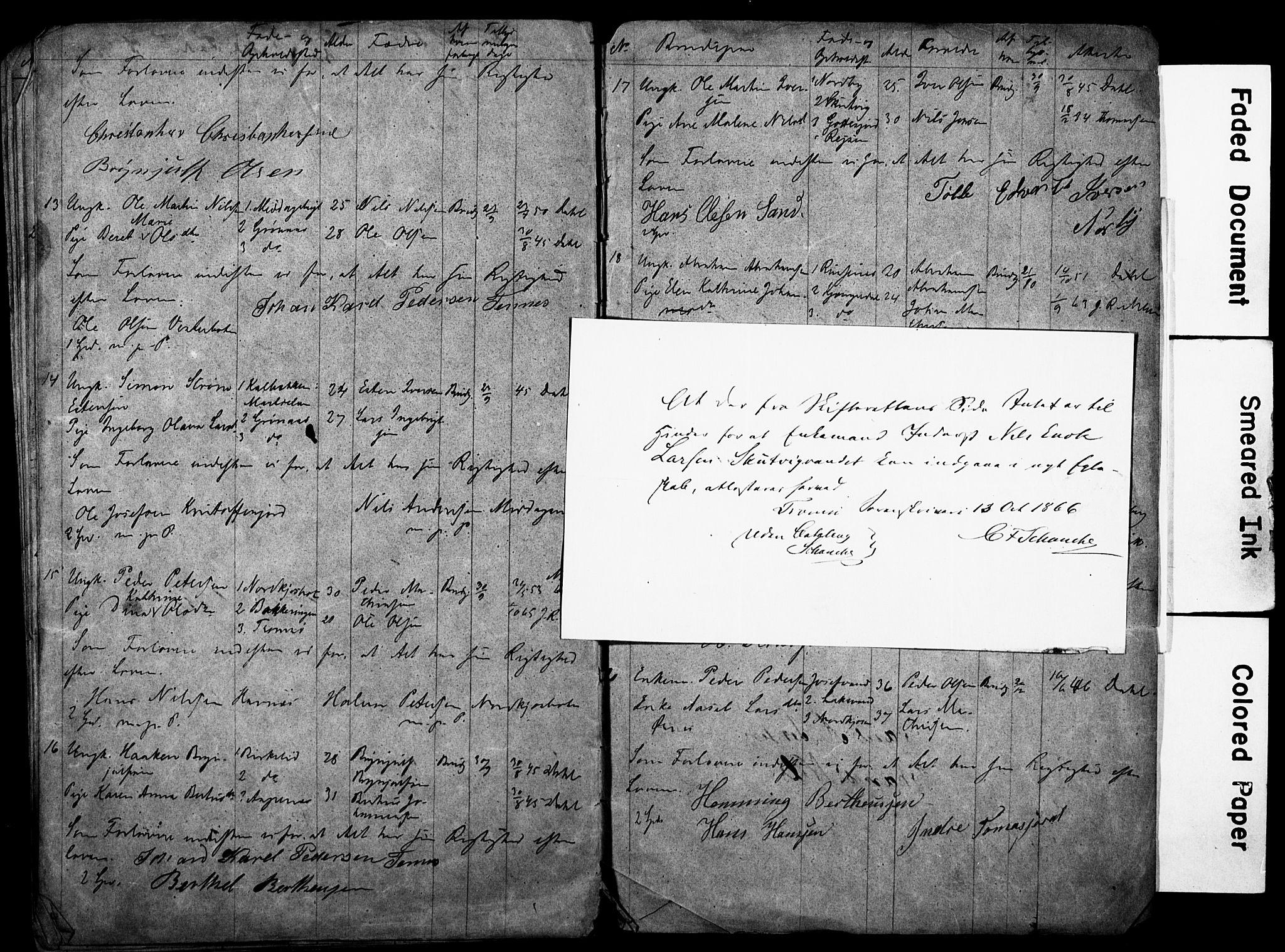 SATØ, Balsfjord sokneprestembete, H/Hd/L0028: Lysningsprotokoll nr. 28, 1858-1867