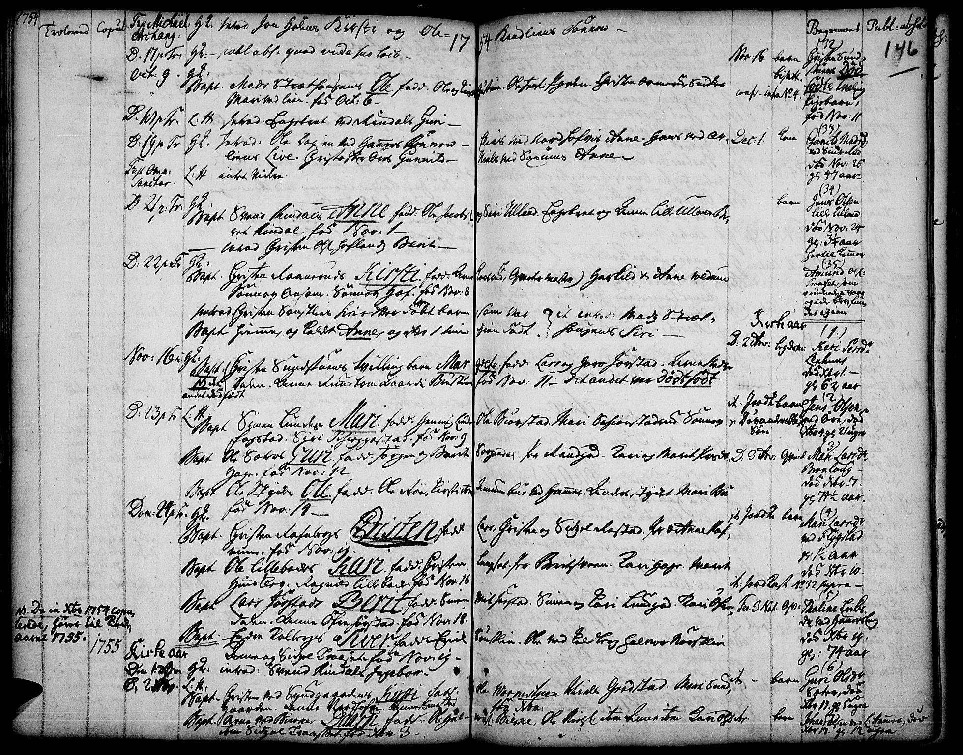 SAH, Fåberg prestekontor, Ministerialbok nr. 1, 1727-1775, s. 146