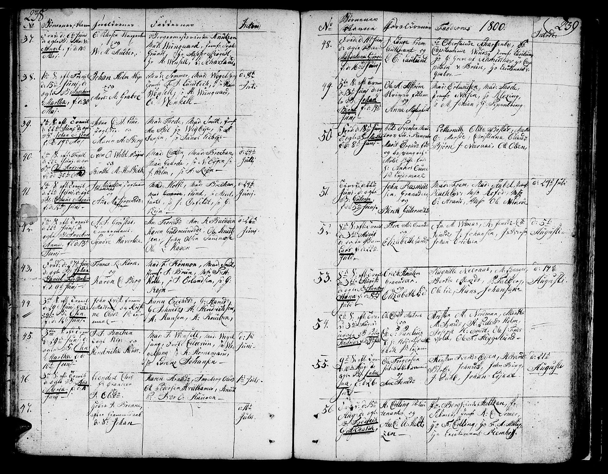 SAT, Ministerialprotokoller, klokkerbøker og fødselsregistre - Sør-Trøndelag, 602/L0104: Ministerialbok nr. 602A02, 1774-1814, s. 238-239