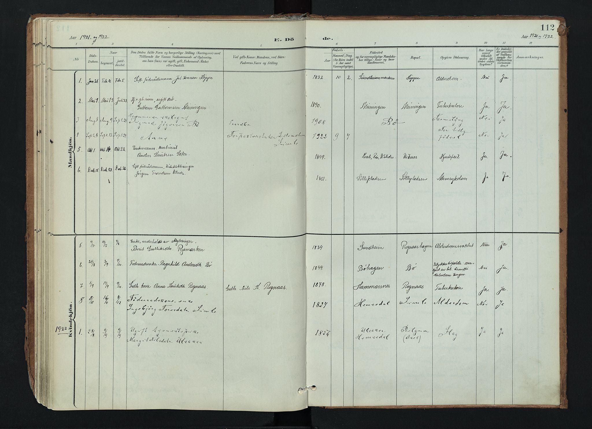 SAH, Nord-Aurdal prestekontor, Ministerialbok nr. 17, 1897-1926, s. 112
