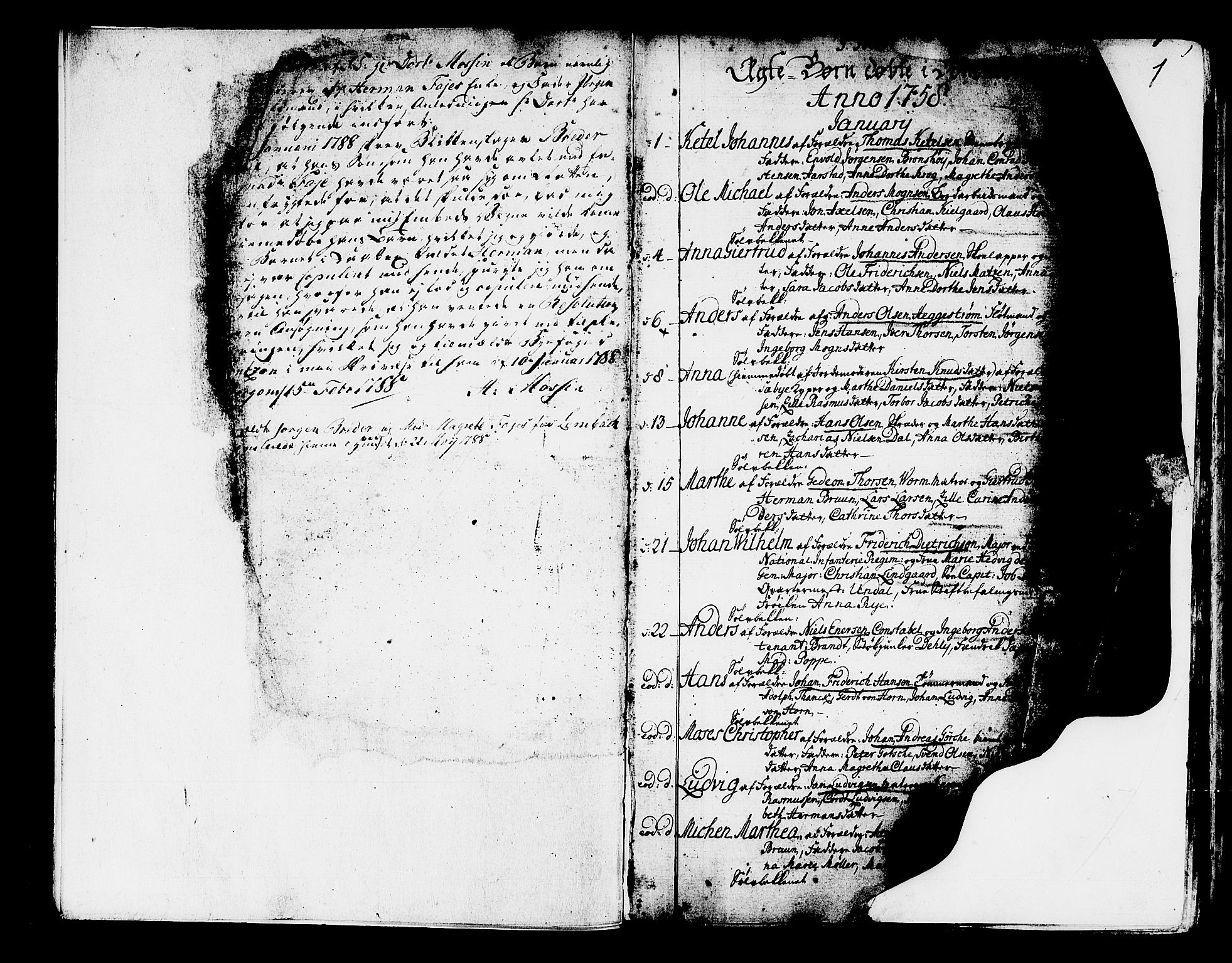 SAB, Domkirken Sokneprestembete, H/Haa/L0003: Ministerialbok nr. A 3, 1758-1789, s. 0-1