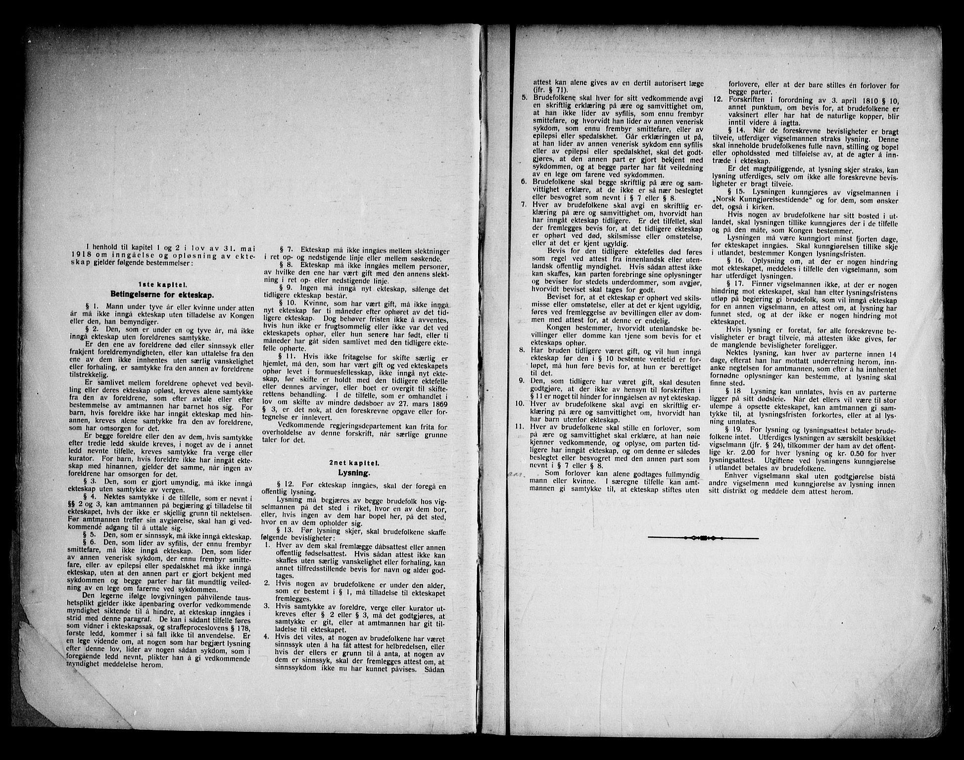 SAKO, Lunde kirkebøker, H/Ha/L0001: Lysningsprotokoll nr. 1, 1919-1966