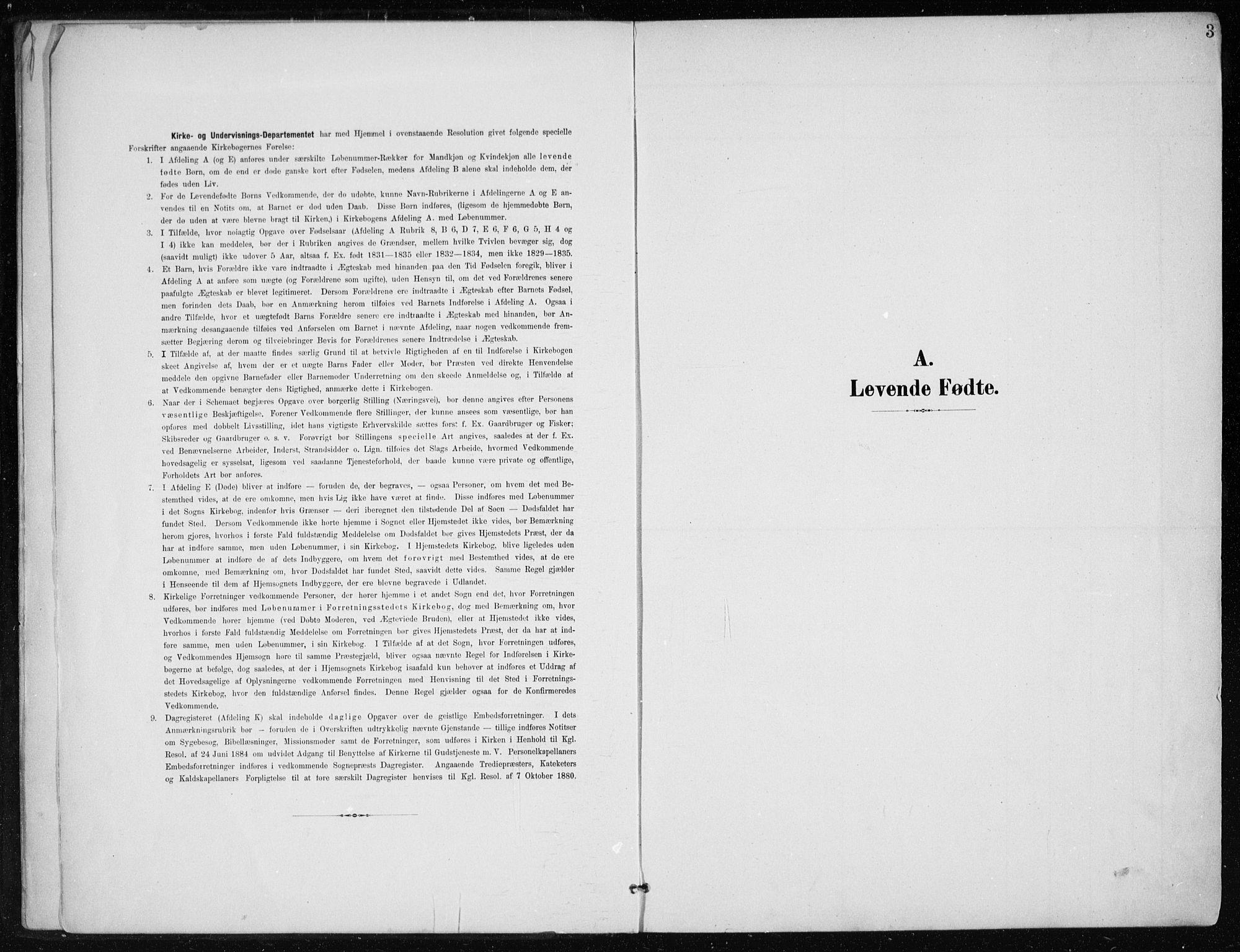 SAT, Ministerialprotokoller, klokkerbøker og fødselsregistre - Nordland, 866/L0941: Ministerialbok nr. 866A04, 1901-1917, s. 3