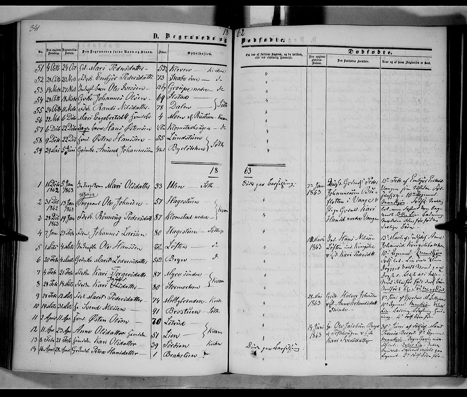 SAH, Nord-Fron prestekontor, Ministerialbok nr. 1, 1851-1864, s. 341