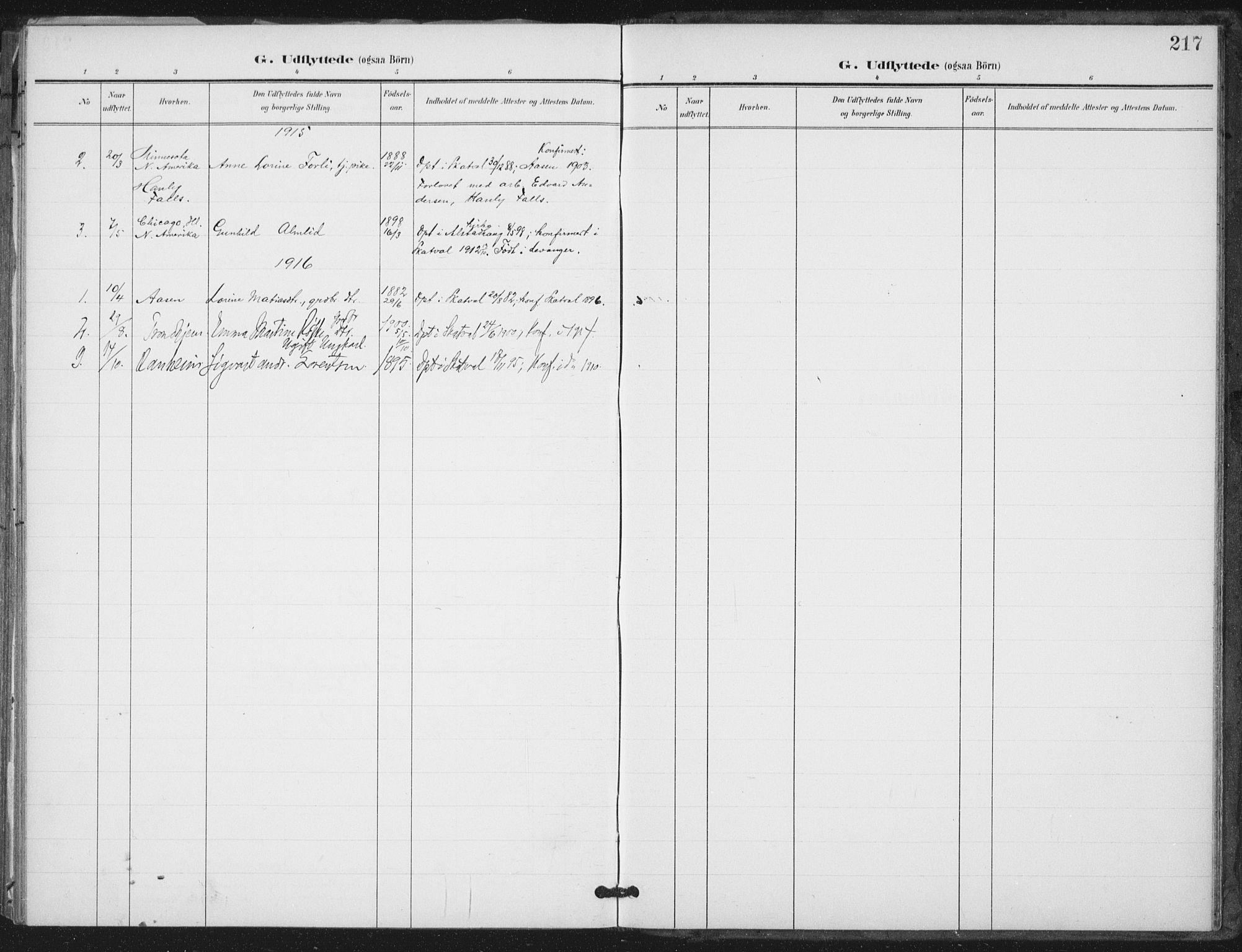 SAT, Ministerialprotokoller, klokkerbøker og fødselsregistre - Nord-Trøndelag, 712/L0101: Ministerialbok nr. 712A02, 1901-1916, s. 217