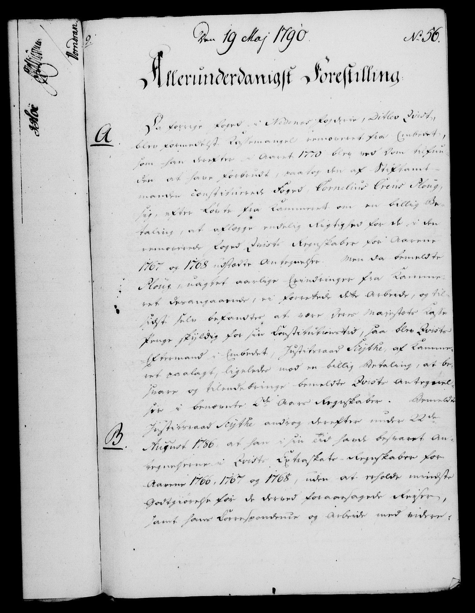 RA, Rentekammeret, Kammerkanselliet, G/Gf/Gfa/L0072: Norsk relasjons- og resolusjonsprotokoll (merket RK 52.72), 1790, s. 279