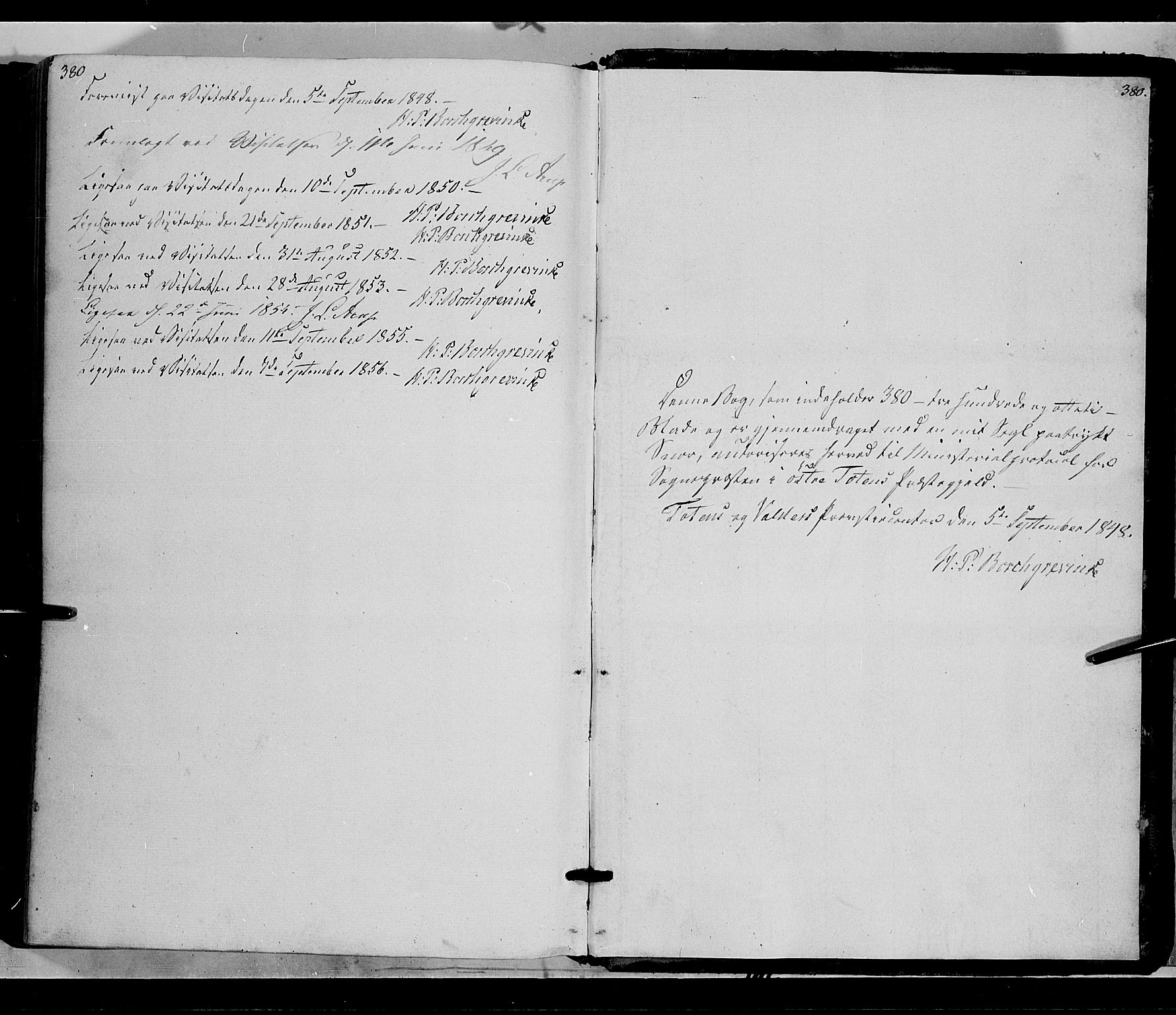 SAH, Østre Toten prestekontor, Ministerialbok nr. 3, 1848-1856, s. 380