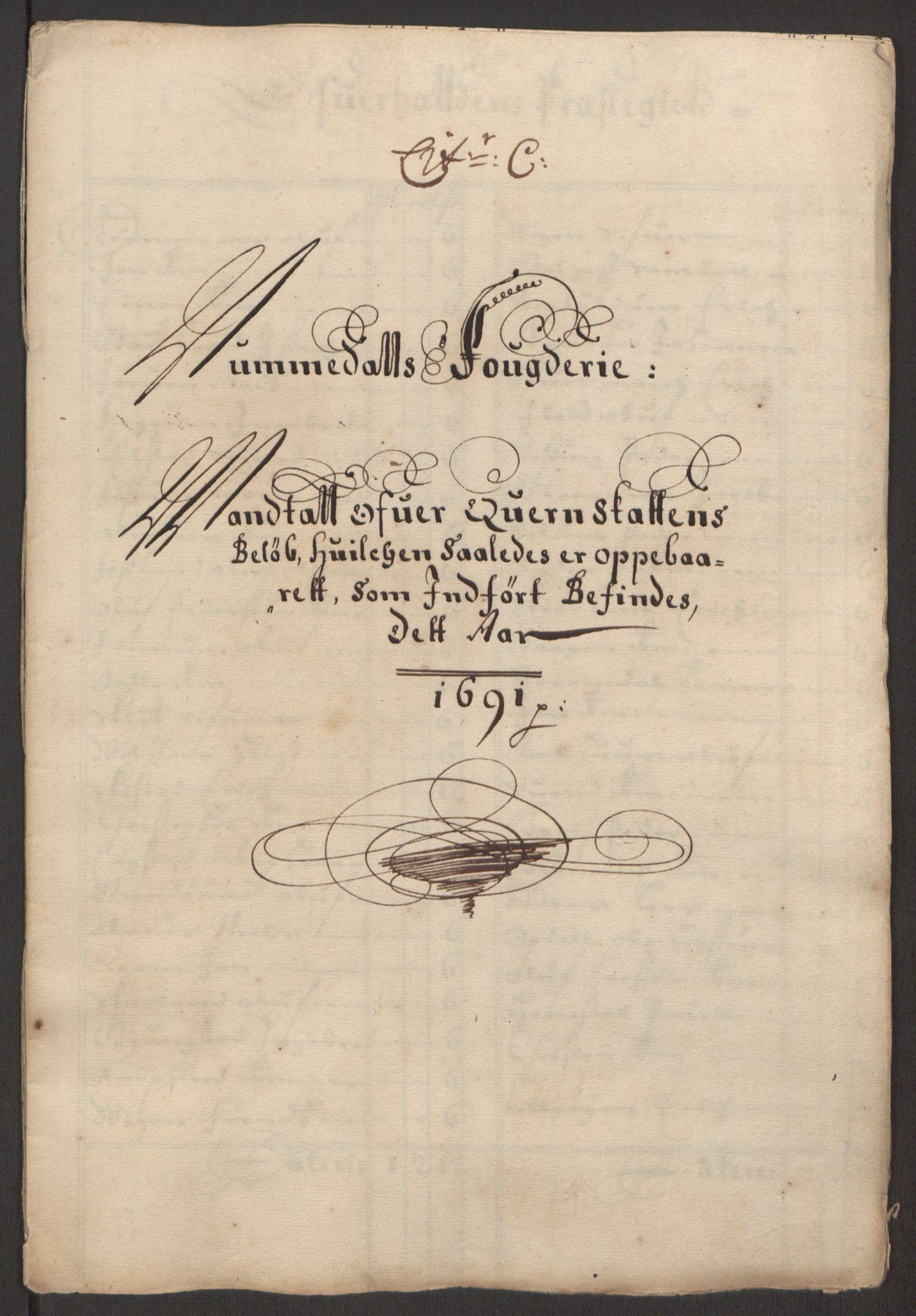 RA, Rentekammeret inntil 1814, Reviderte regnskaper, Fogderegnskap, R64/L4423: Fogderegnskap Namdal, 1690-1691, s. 210