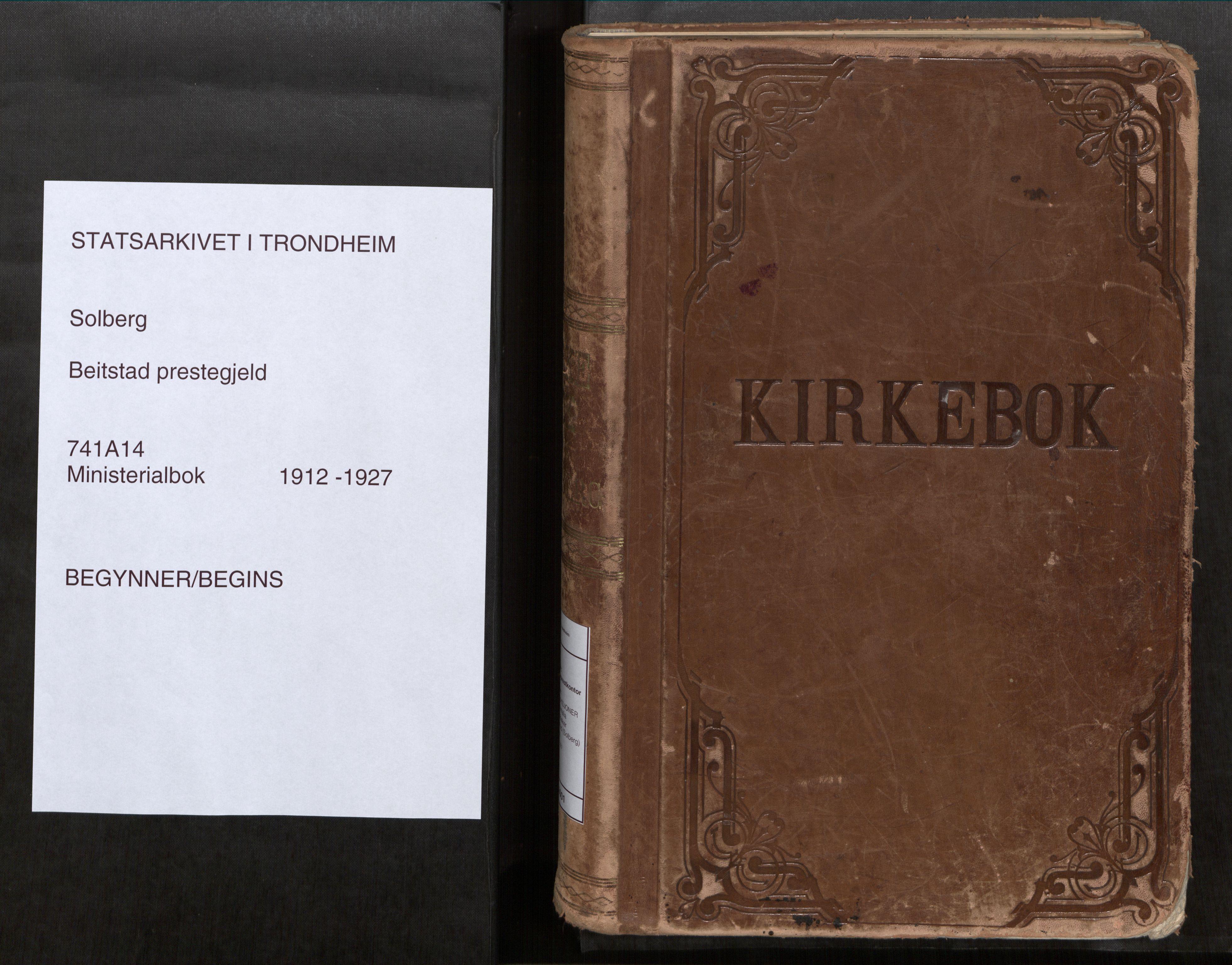SAT, Beitstad sokneprestkontor, I/I1/I1a/L0001: Ministerialbok nr. 1, 1912-1927