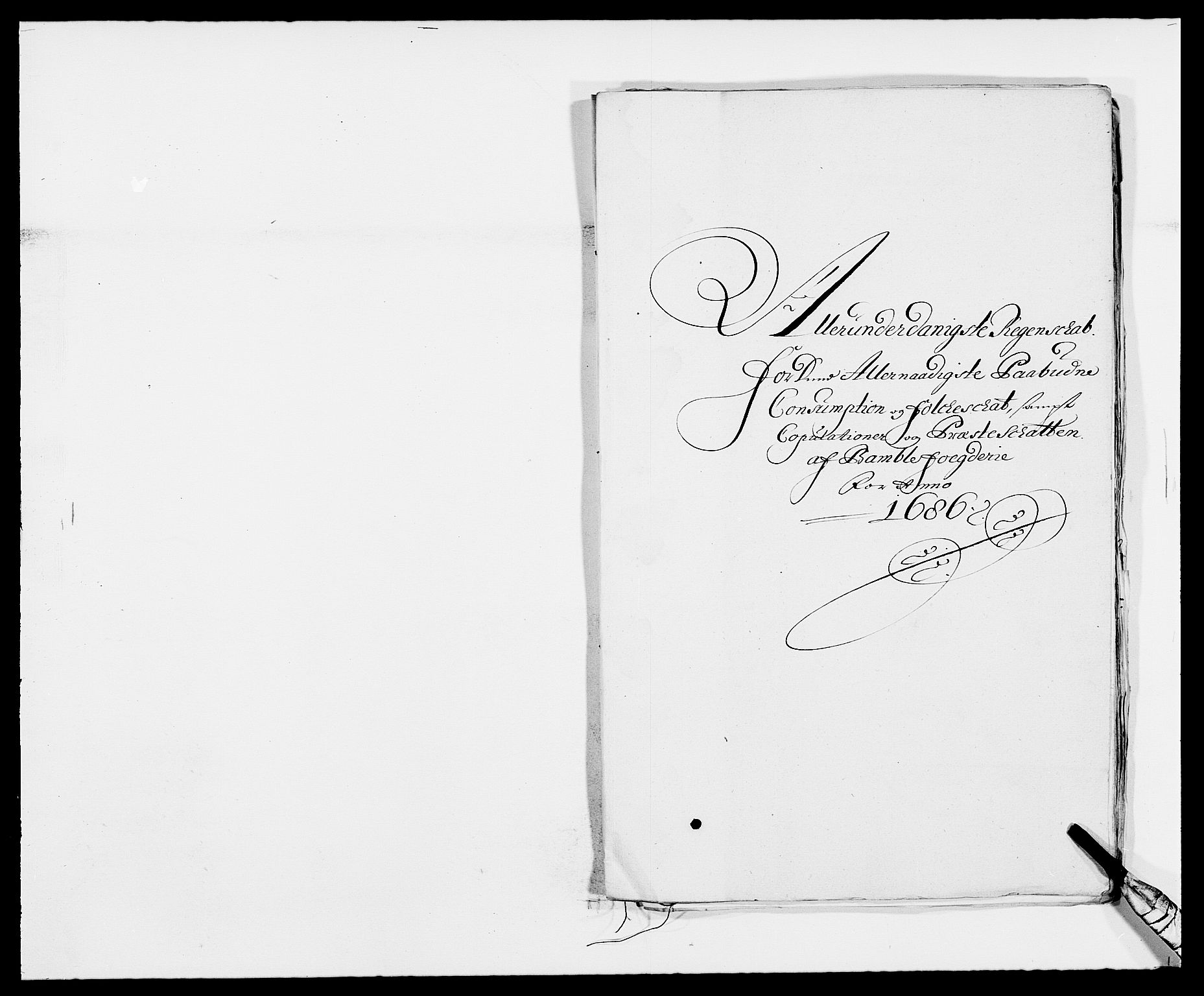 RA, Rentekammeret inntil 1814, Reviderte regnskaper, Fogderegnskap, R34/L2049: Fogderegnskap Bamble, 1685-1687, s. 95