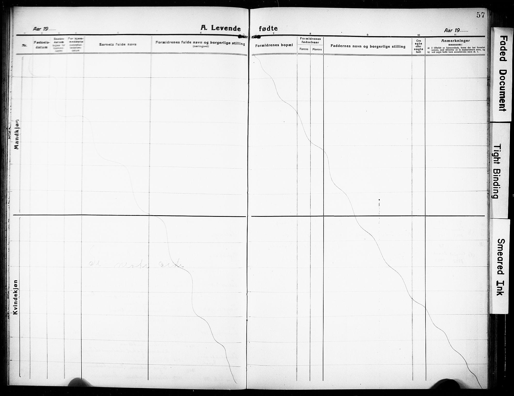 SAKO, Rjukan kirkebøker, G/Ga/L0003: Klokkerbok nr. 3, 1920-1928, s. 57