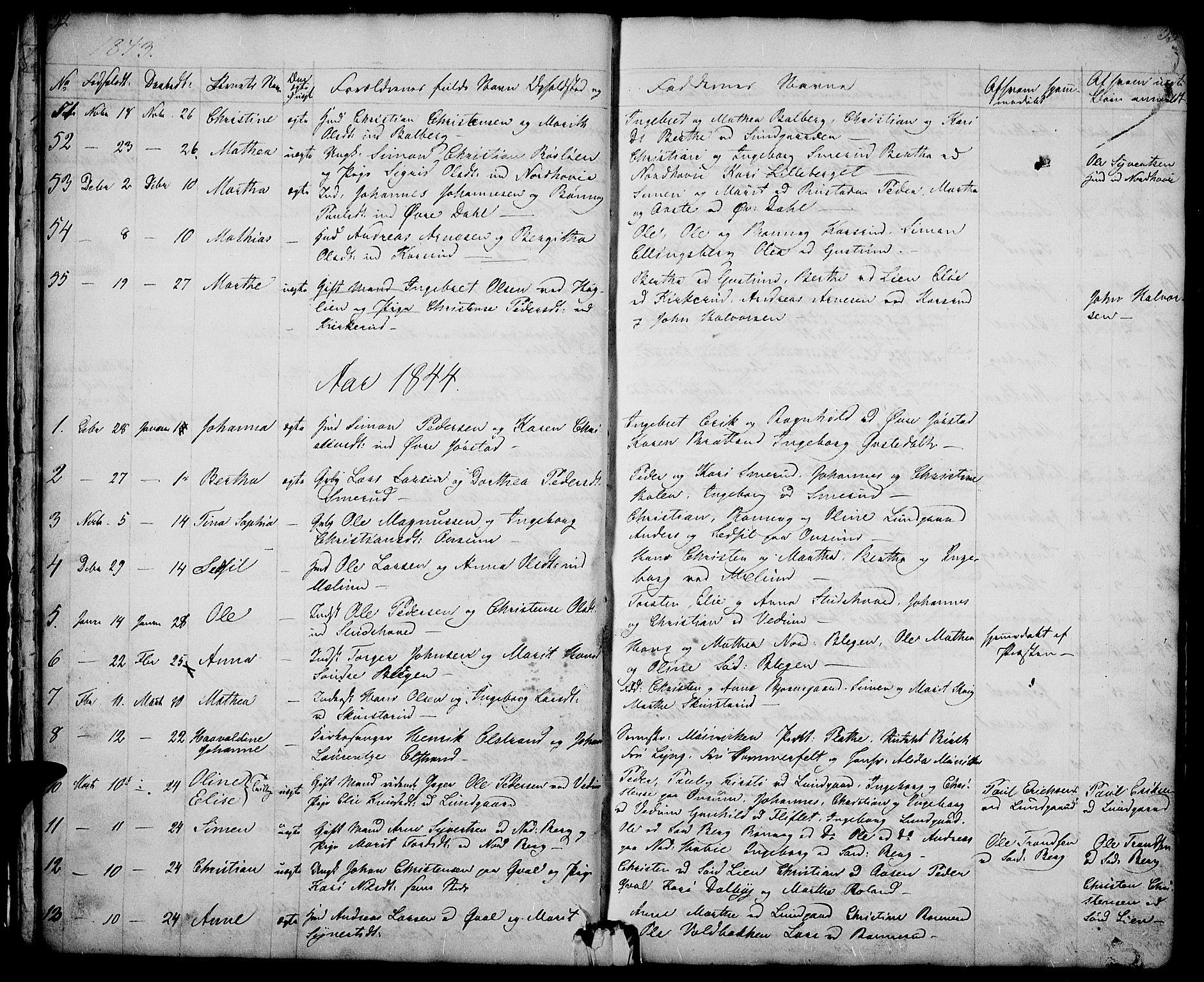 SAH, Fåberg prestekontor, Klokkerbok nr. 5, 1837-1864, s. 32-33