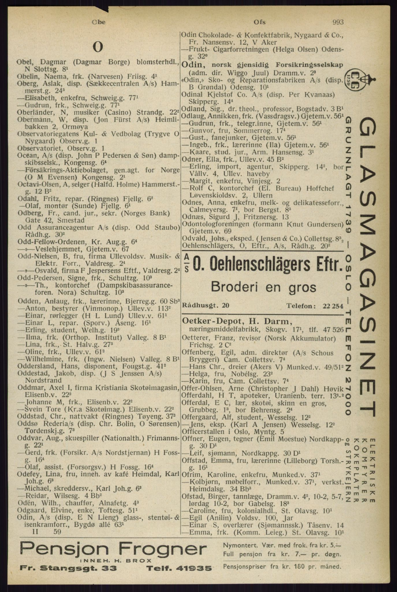RA, Oslo adressebok (publikasjon)*, 1933, s. 993