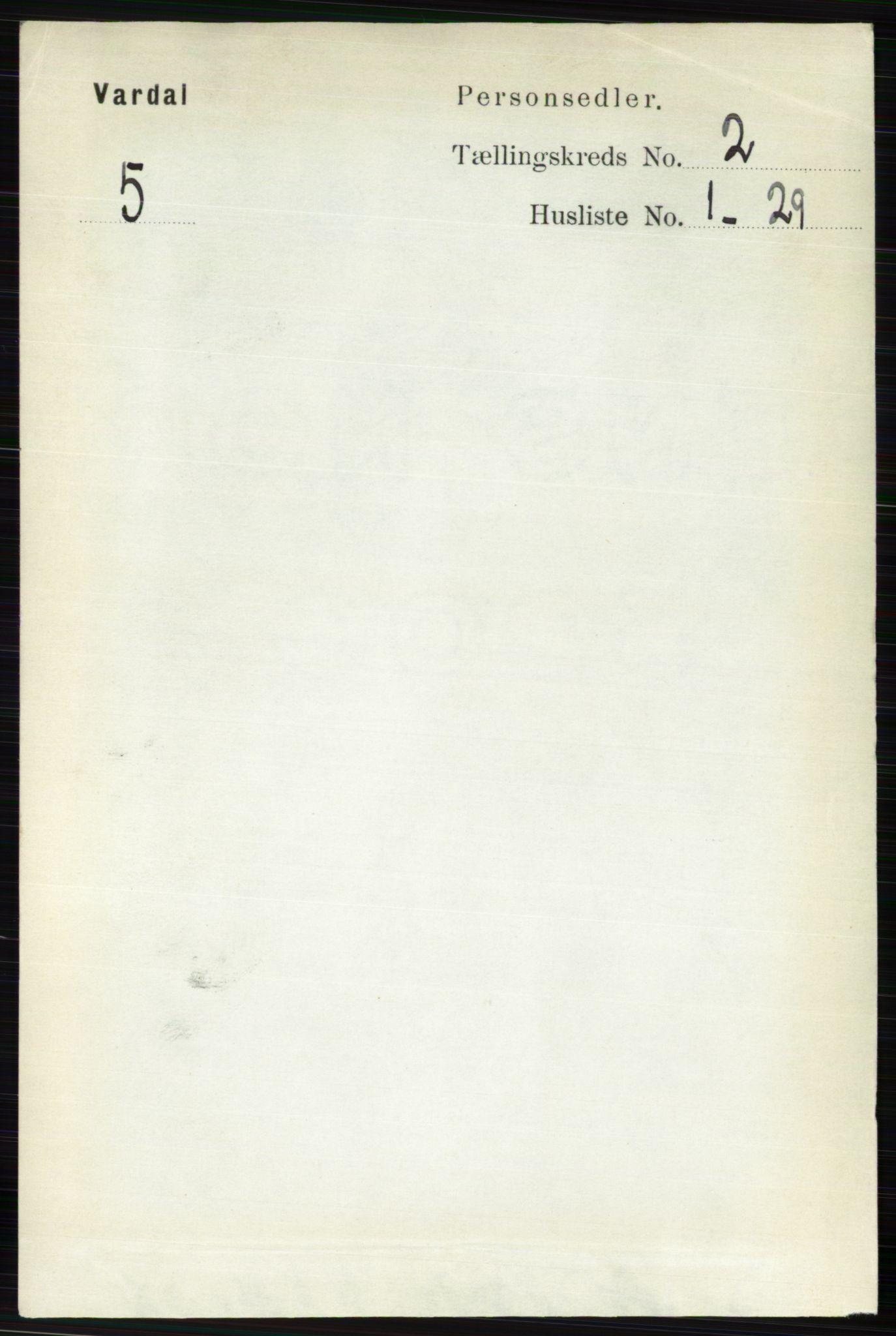 RA, Folketelling 1891 for 0527 Vardal herred, 1891, s. 523