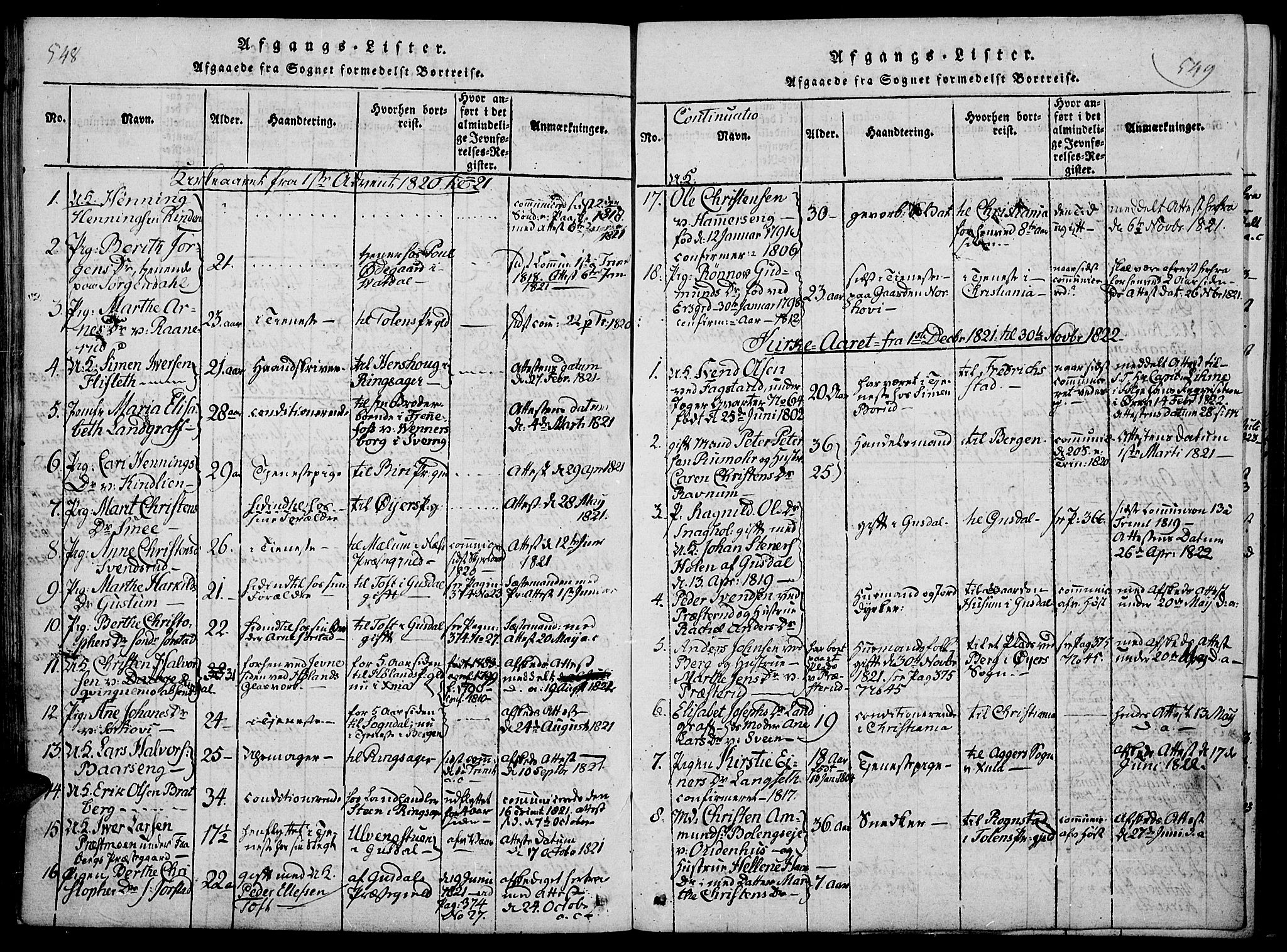 SAH, Fåberg prestekontor, Ministerialbok nr. 3, 1818-1833, s. 548-549