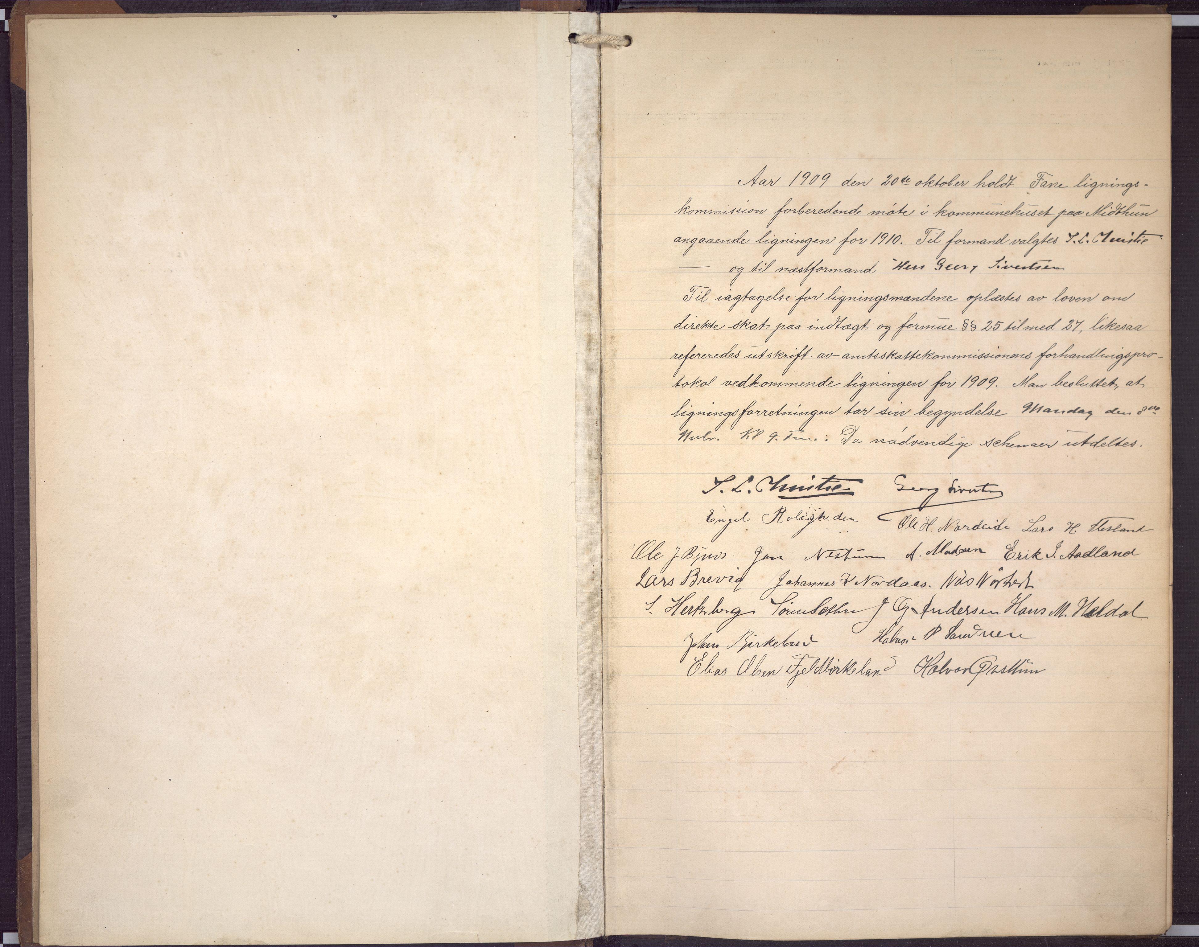 BBA, Fana kommune. Herredskassereren, J/Jc/L0009: Skattelister/ligningsprotokoll, 1909-1911, s. 3