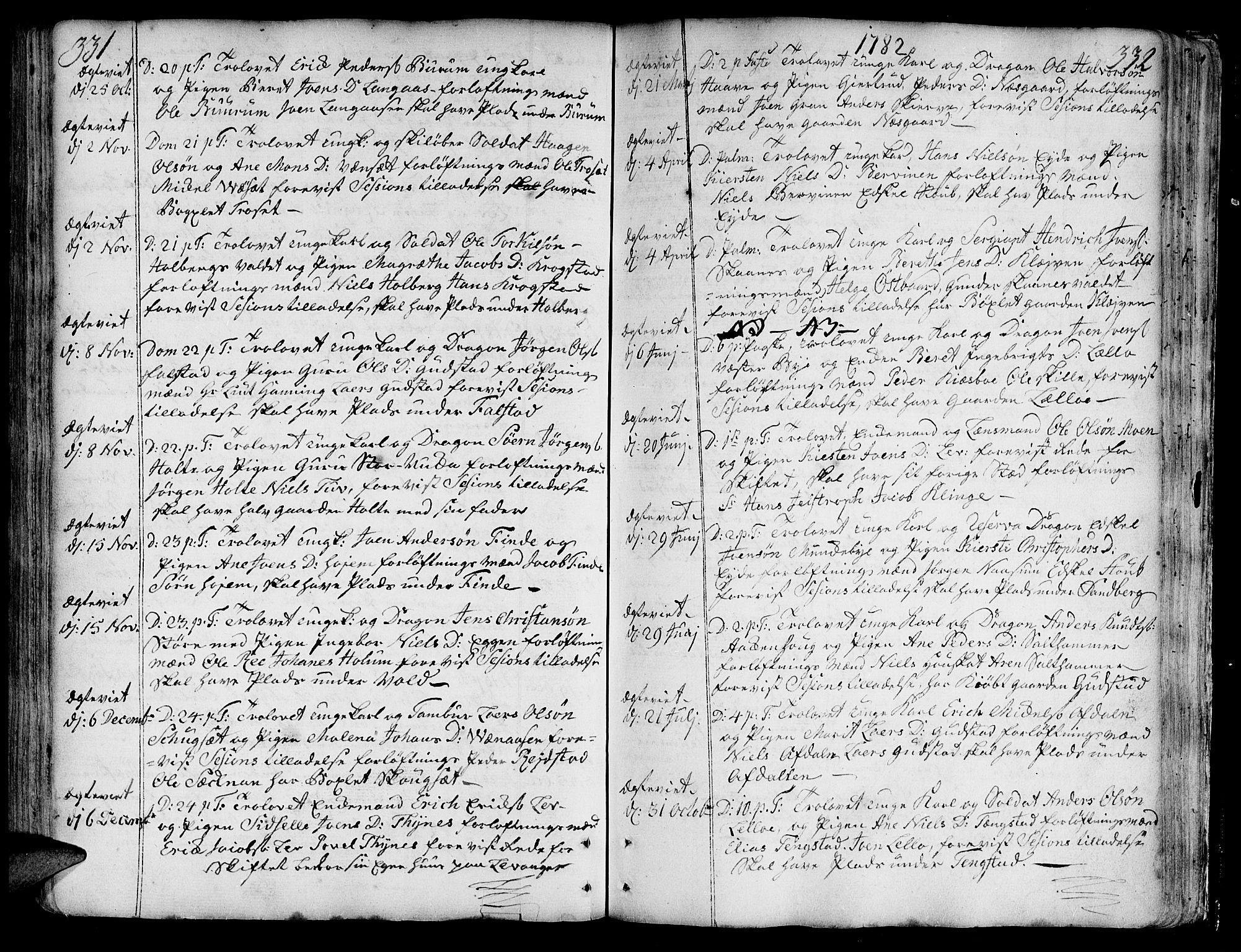 SAT, Ministerialprotokoller, klokkerbøker og fødselsregistre - Nord-Trøndelag, 717/L0141: Ministerialbok nr. 717A01, 1747-1803, s. 331-332