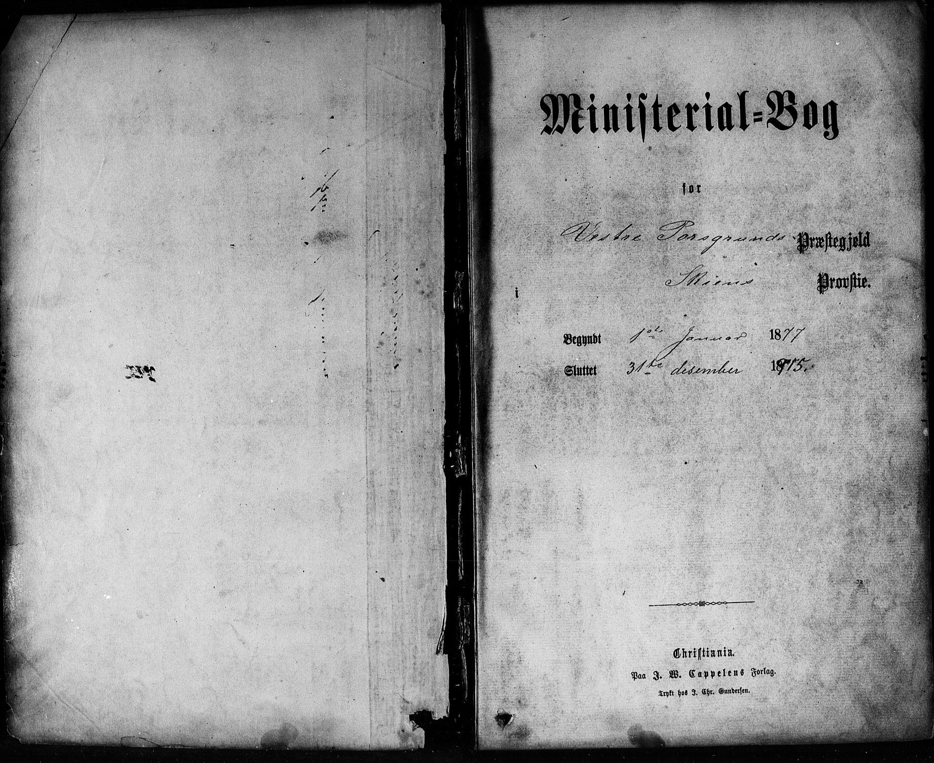 SAKO, Porsgrunn kirkebøker , G/Ga/L0003: Klokkerbok nr. I 3, 1877-1915