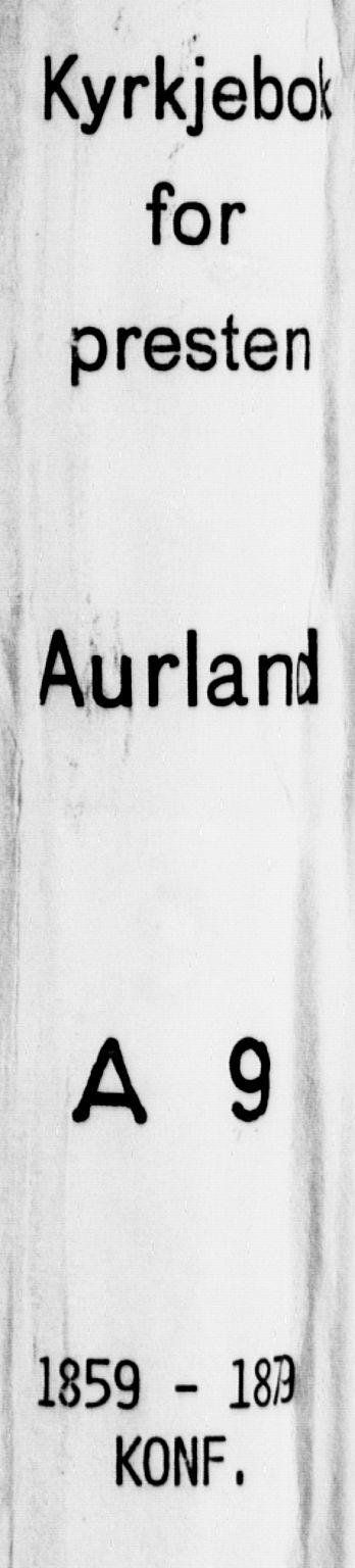 SAB, Aurland Sokneprestembete*, Ministerialbok nr. A 9, 1859-1879