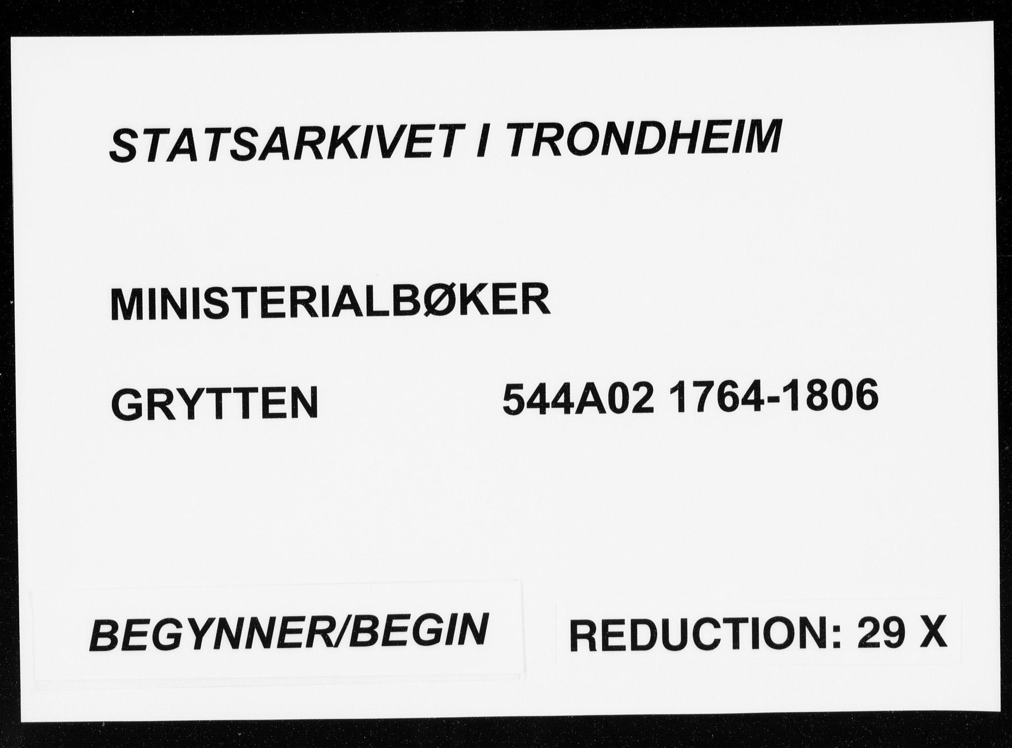 SAT, Ministerialprotokoller, klokkerbøker og fødselsregistre - Møre og Romsdal, 544/L0569: Ministerialbok nr. 544A02, 1764-1806