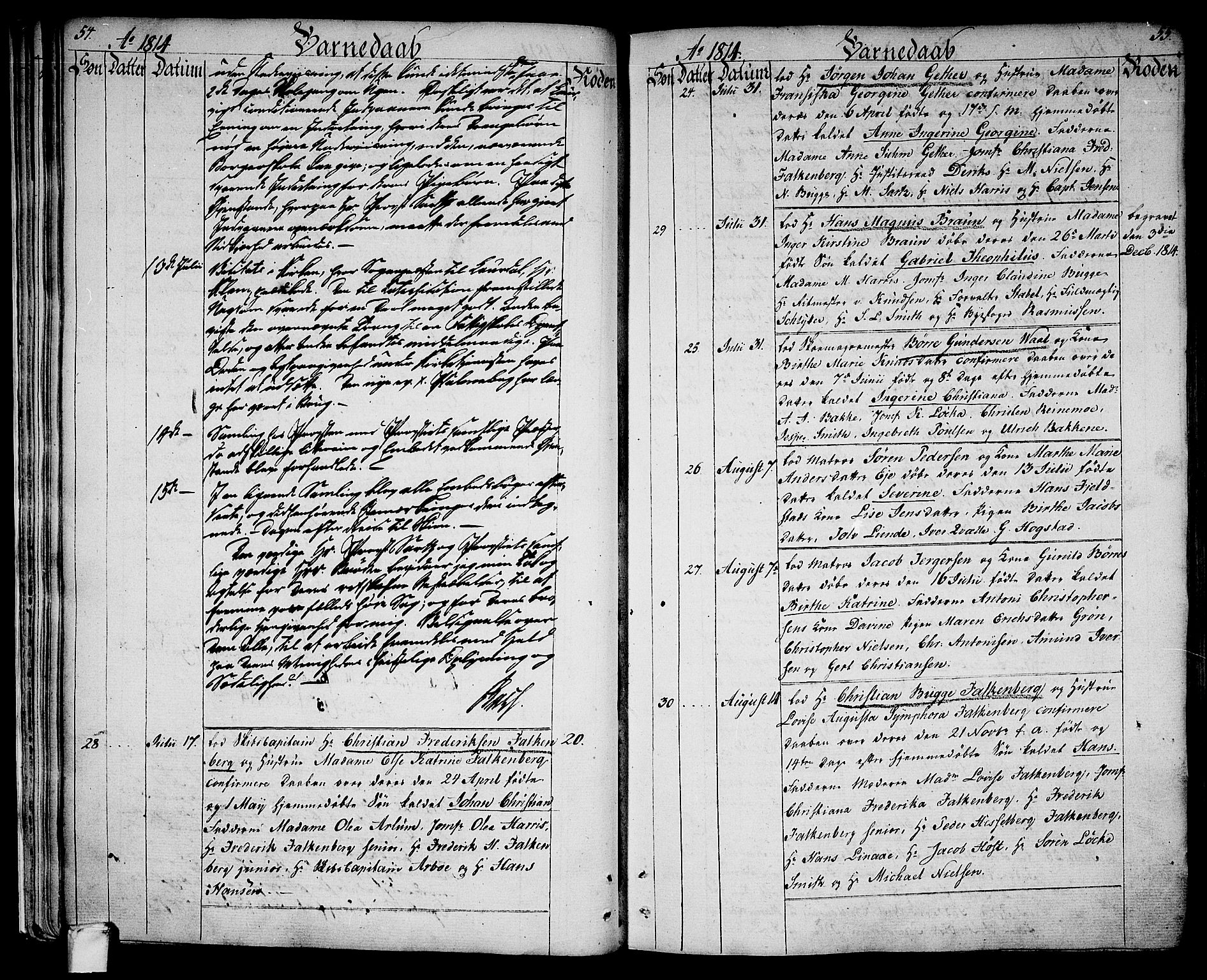 SAKO, Larvik kirkebøker, G/Ga/L0002: Klokkerbok nr. I 2, 1807-1830, s. 54-55