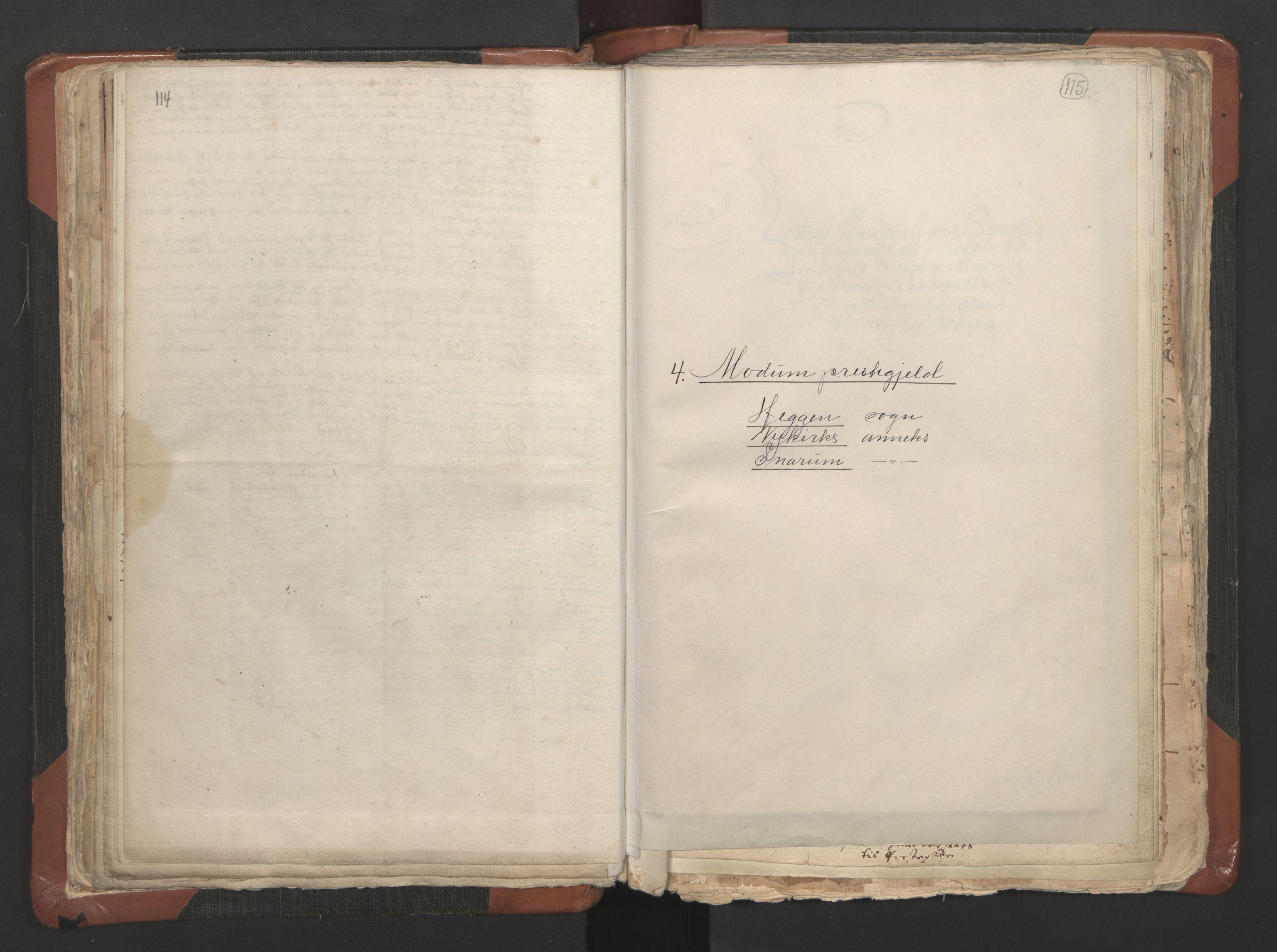 RA, Sogneprestenes manntall 1664-1666, nr. 9: Bragernes prosti, 1664-1666, s. 114-115