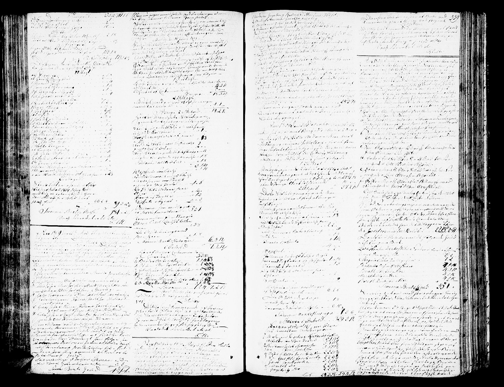 SAT, Romsdal sorenskriveri, 3/3A/L0013: Skifteprotokoll, 1802-1812, s. 338b-339a