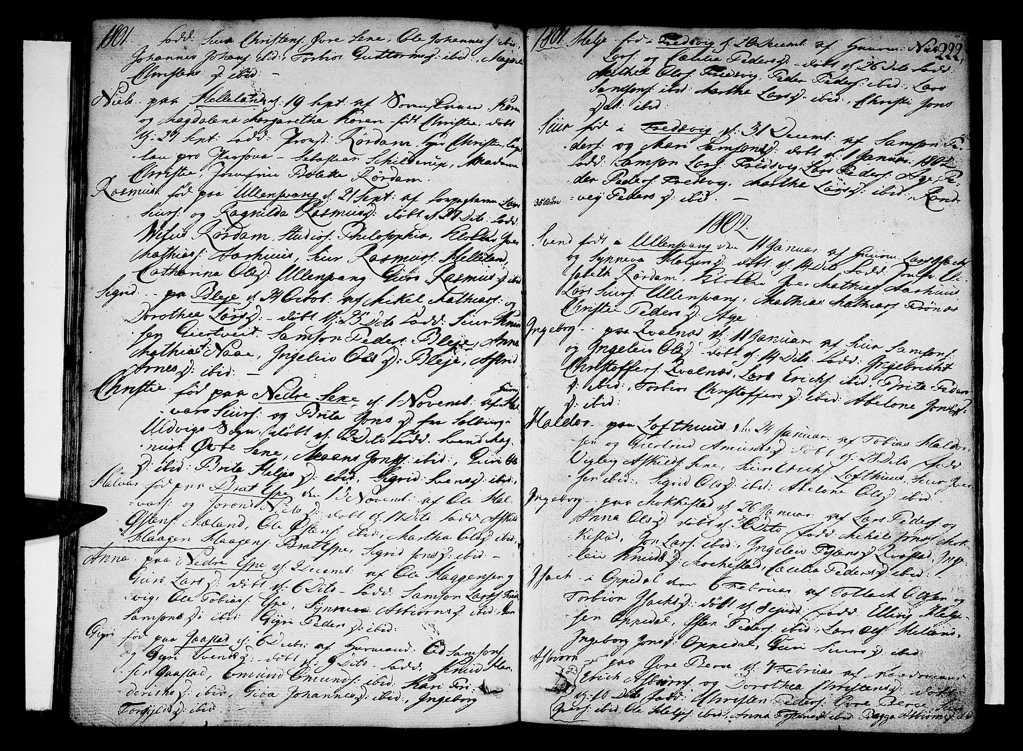 SAB, Ullensvang Sokneprestembete, H/Haa: Ministerialbok nr. A 7 /1, 1788-1804, s. 221-222