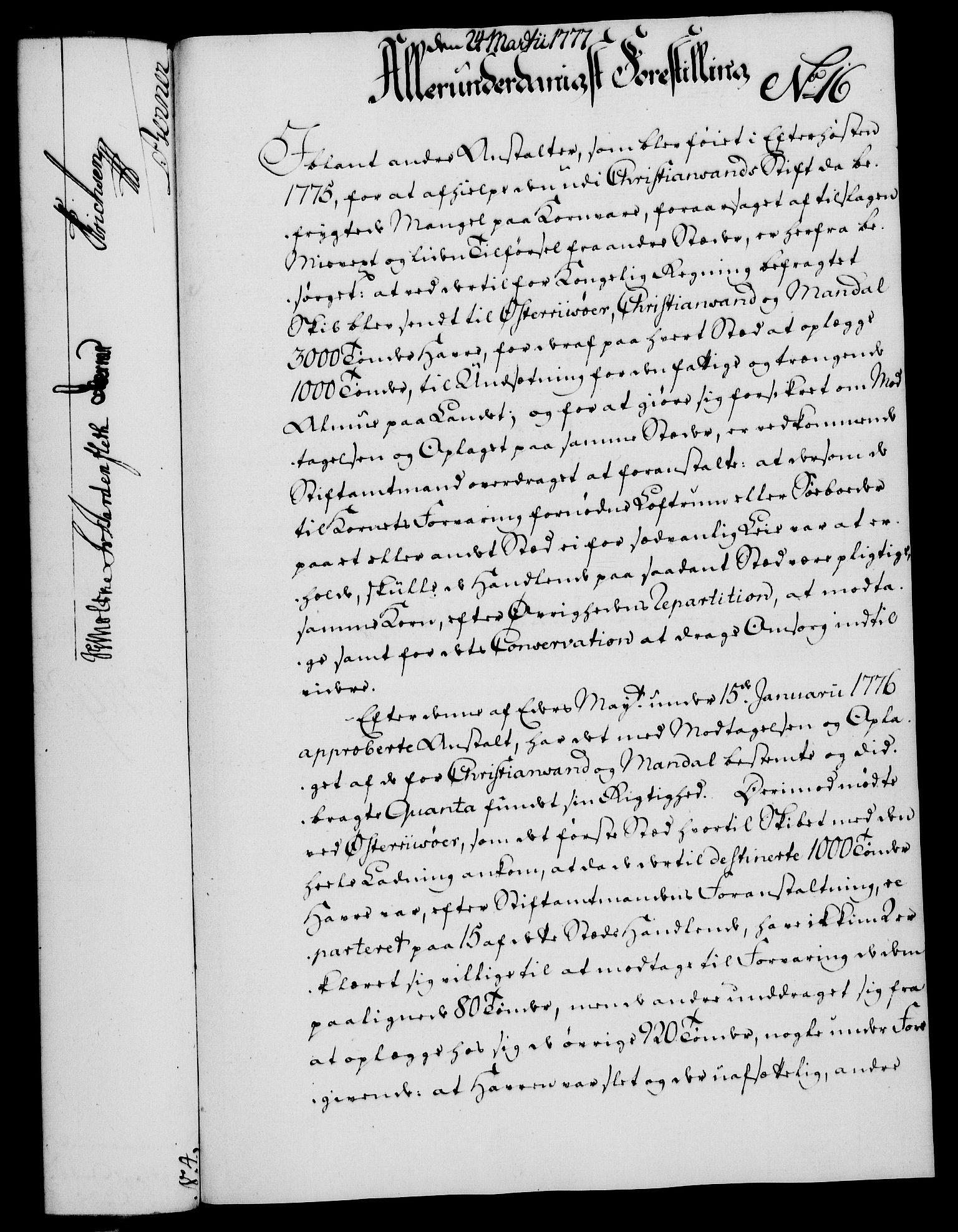 RA, Rentekammeret, Kammerkanselliet, G/Gf/Gfa/L0059: Norsk relasjons- og resolusjonsprotokoll (merket RK 52.59), 1777, s. 89