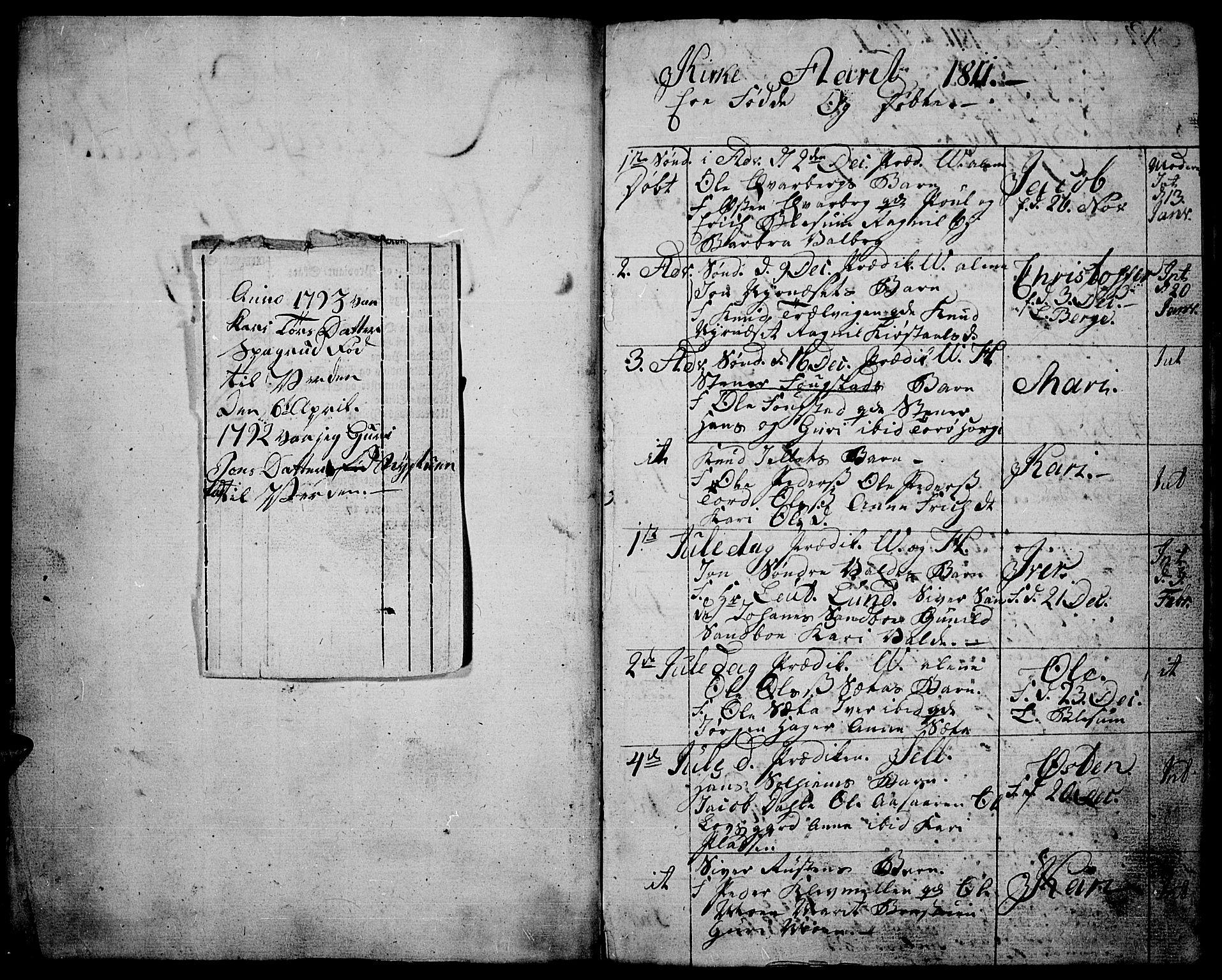 SAH, Vågå prestekontor, Ministerialbok nr. 2, 1810-1815, s. 0-1